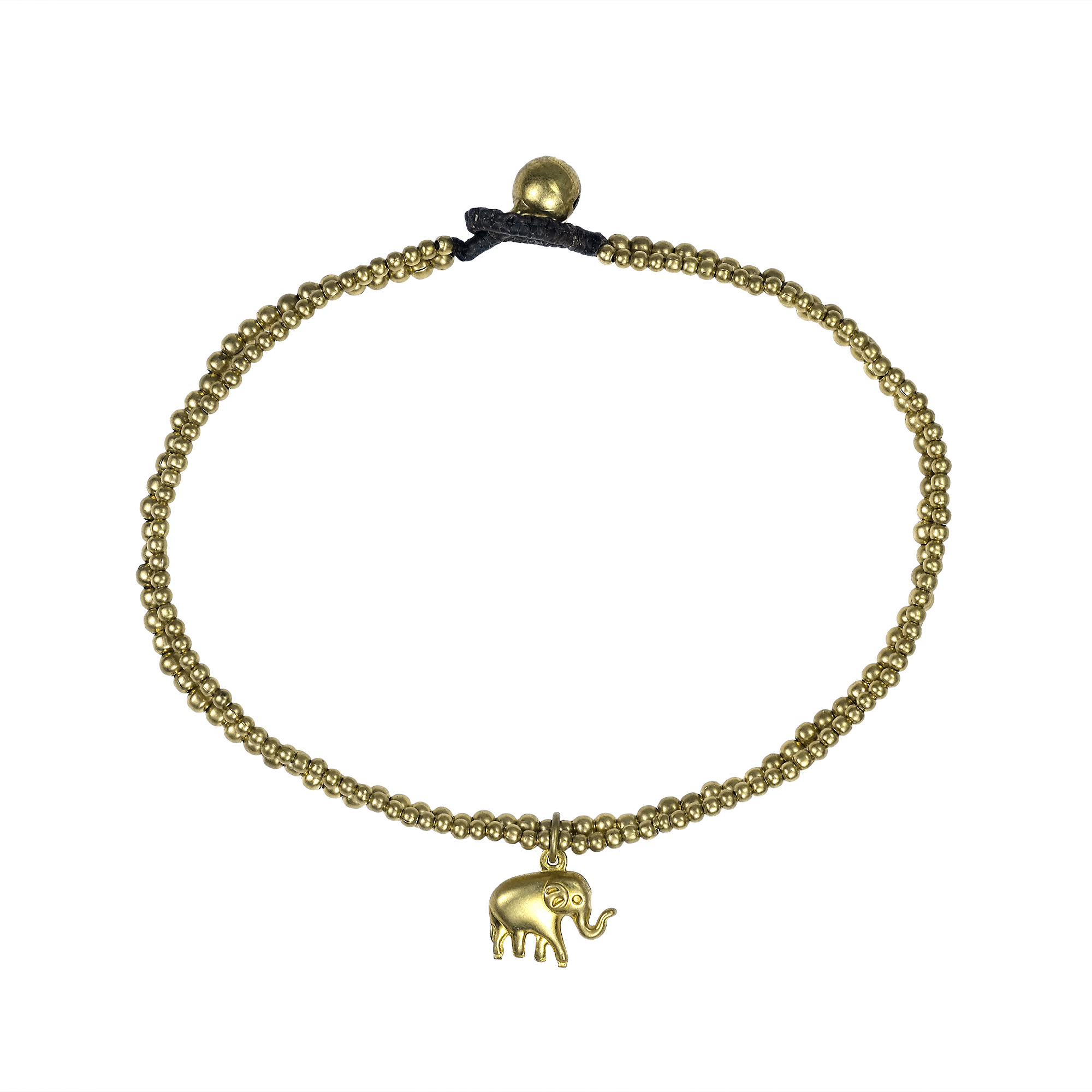 anklet bracelet yellow real gold ankle to bracelets elephant charm itm chain