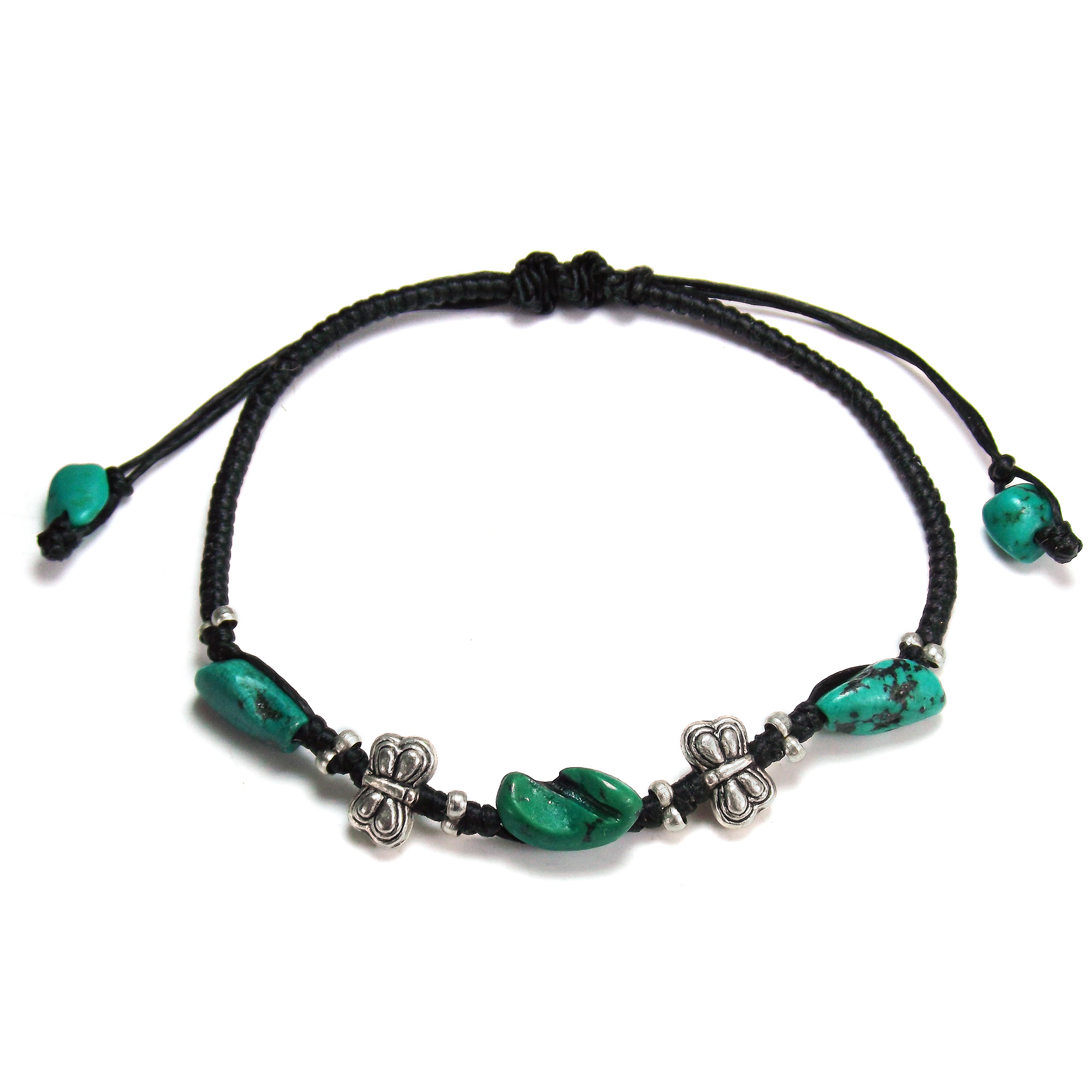 mens bar beaded product bracelet original friendship waxed teal womens everyday turquoise thread