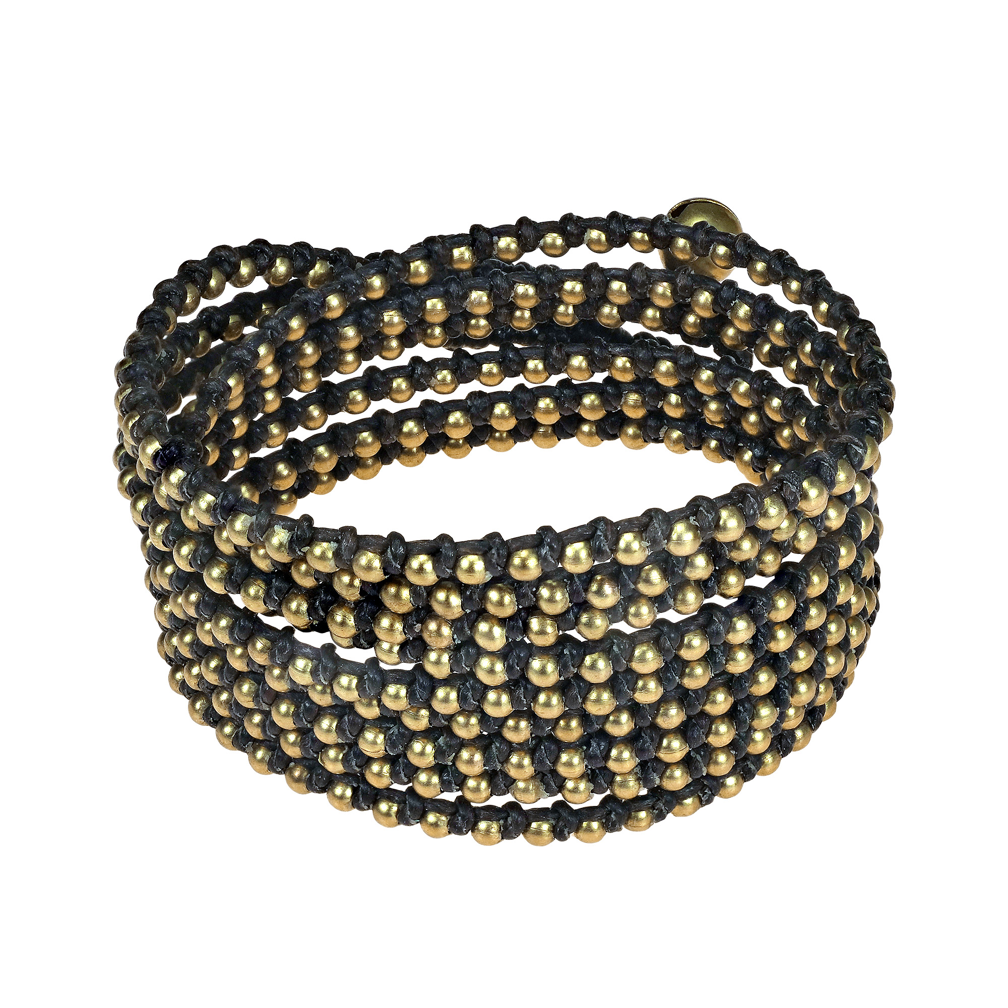 triple sobe in schwartz the bar rose wrap liza bracelet gold metallic