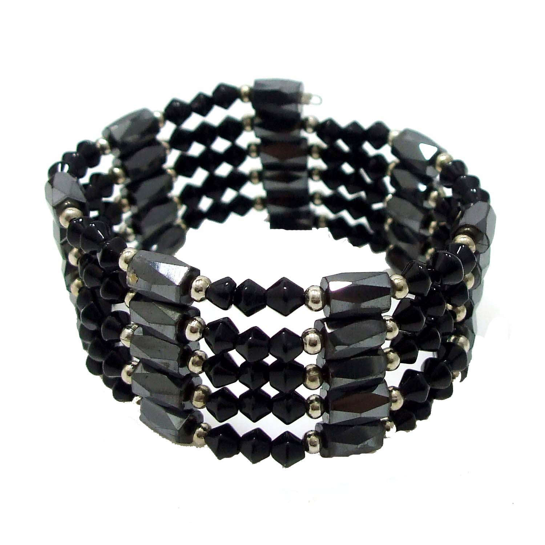 Unique Magnets W Black Onyx Gl Beaded Bracelet Or Necklace Aeravida
