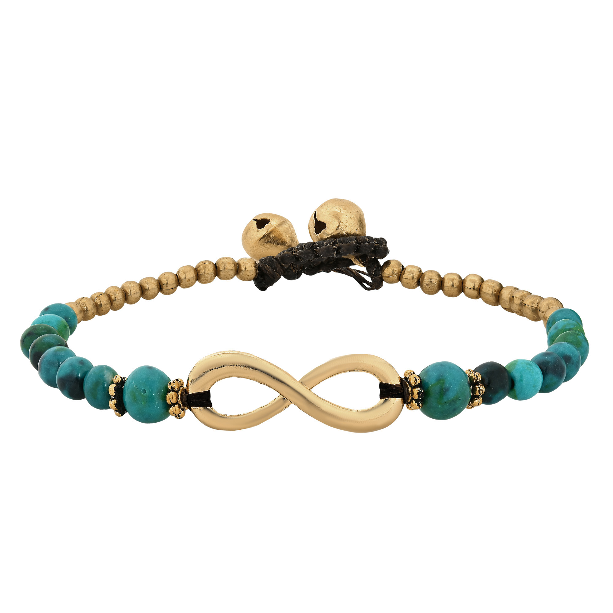 Beautiful infinity symbol with green malachite brass beads the beautiful meaning of the infinity symbol is that it represents eternity empowerment and everlasting love this amazing message has inspired thai biocorpaavc