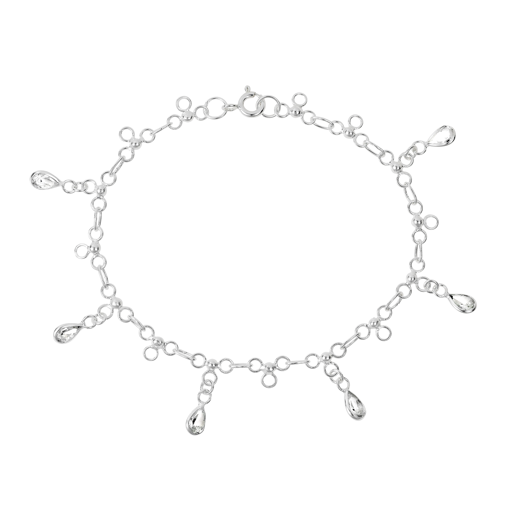 clr heart products product clear anklet romantic ca silver link anklets chain details sterling cubic zirconia