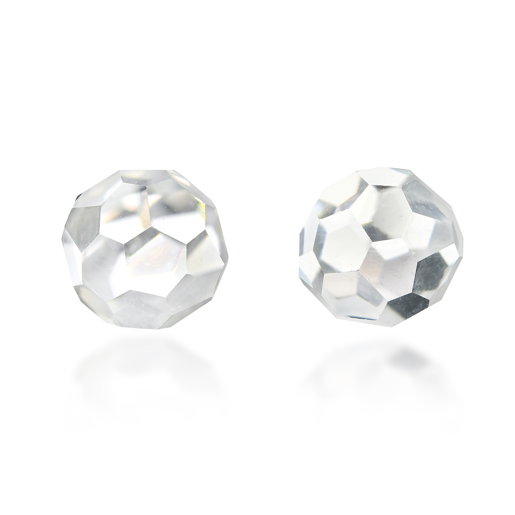 72271da84 A simple but stylish design, these stud earrings feature a glimmering crystal  ball set on sterling silver. These earrings shine with different colors, ...