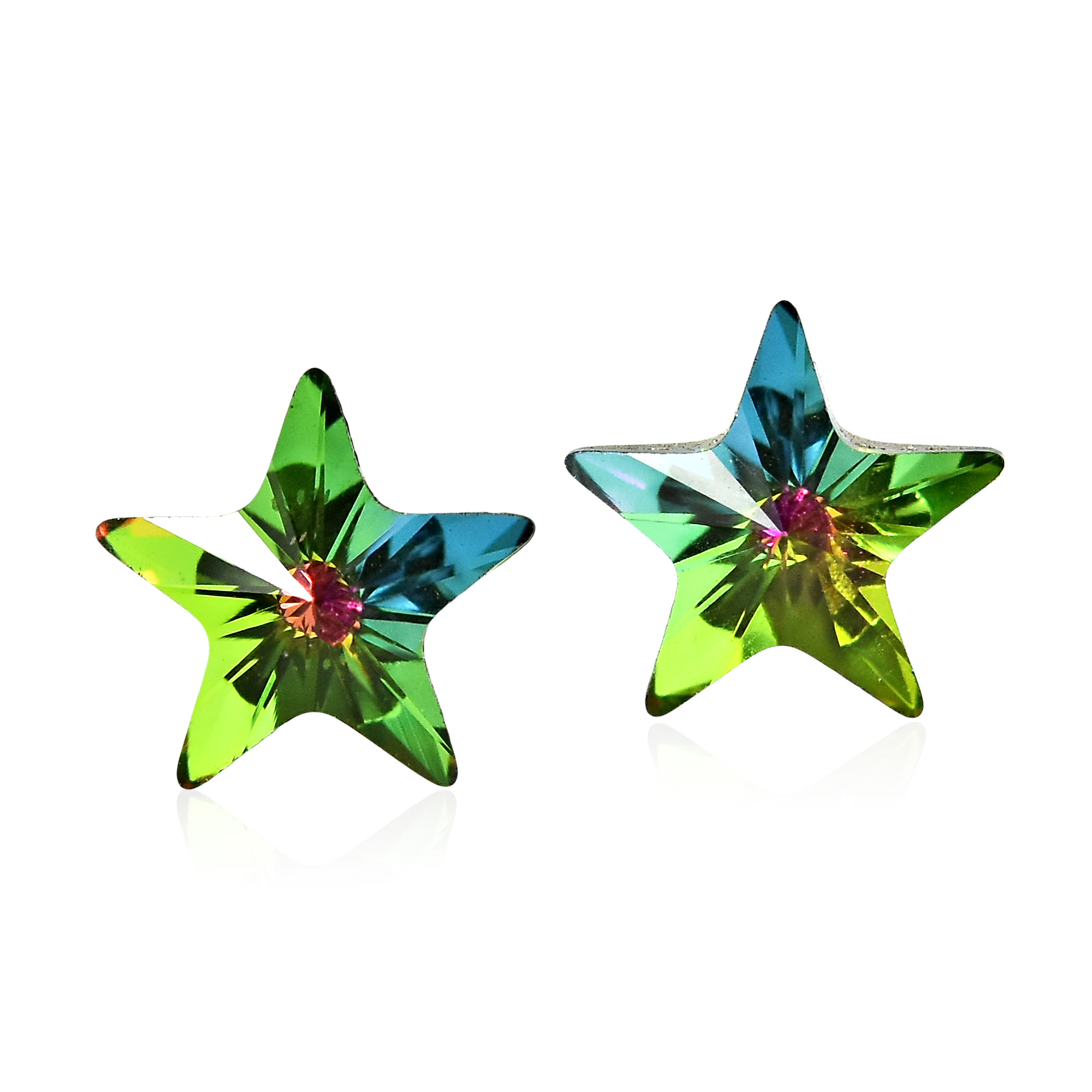 Feel Like A Star With These Cute Earrings From Thailand Feature Design Made Of Swavroski Crystal And Sterling Silver Post