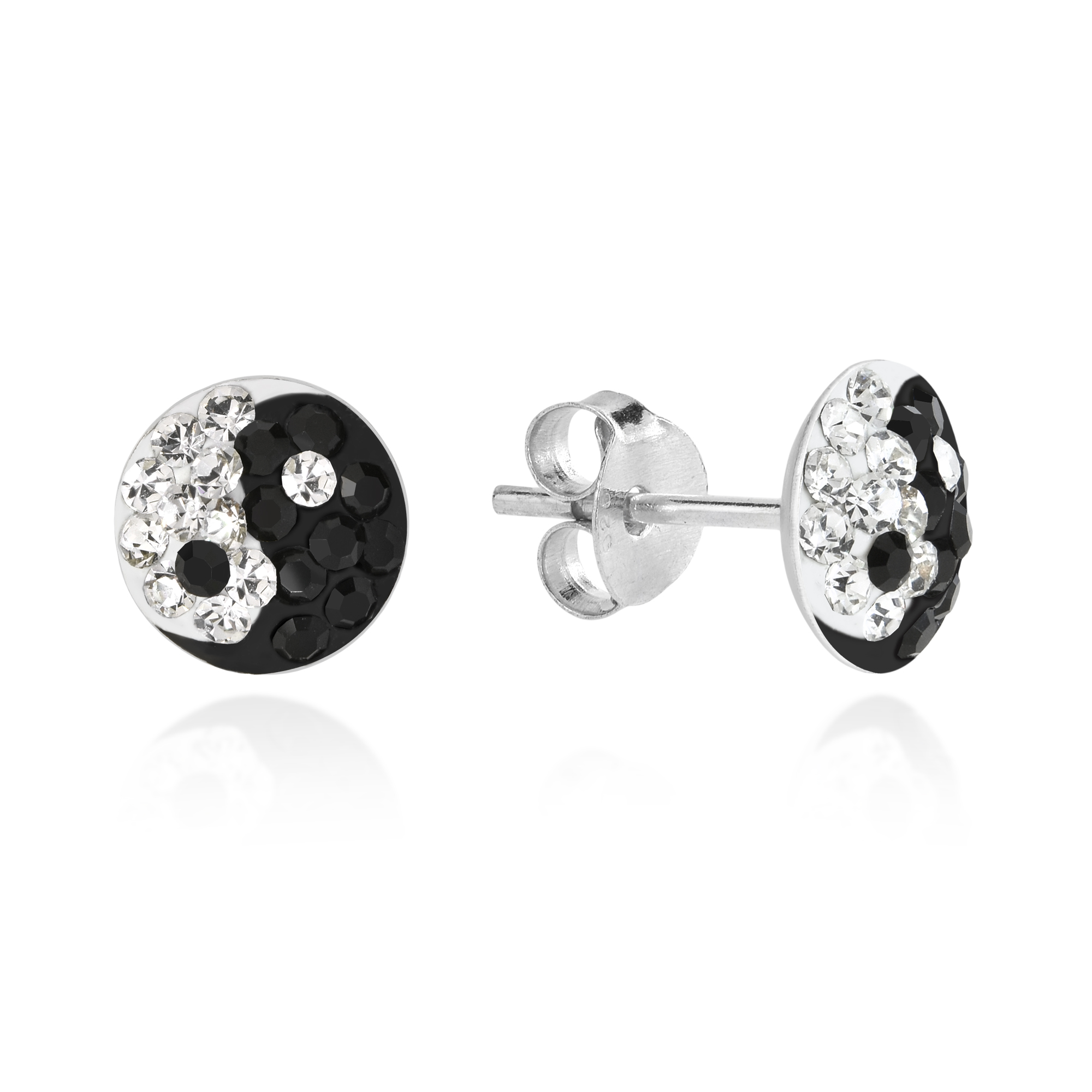 original by with stud silver star and moon peony love studs ear chain peonylove sterling product cuff sparkly earring
