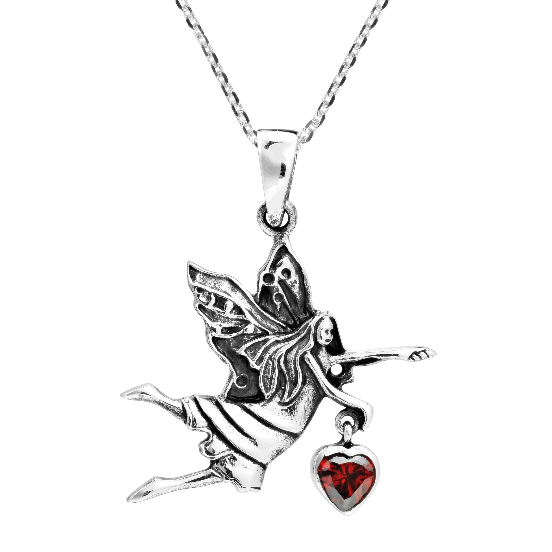 moon on necklace birthstone fairy products shineon the pendant