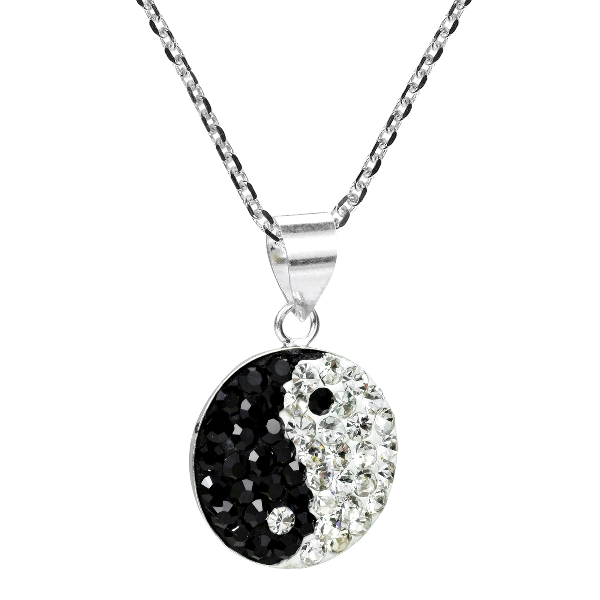 vaults yin moonstone crystal s with yang onyx pendant black necklace