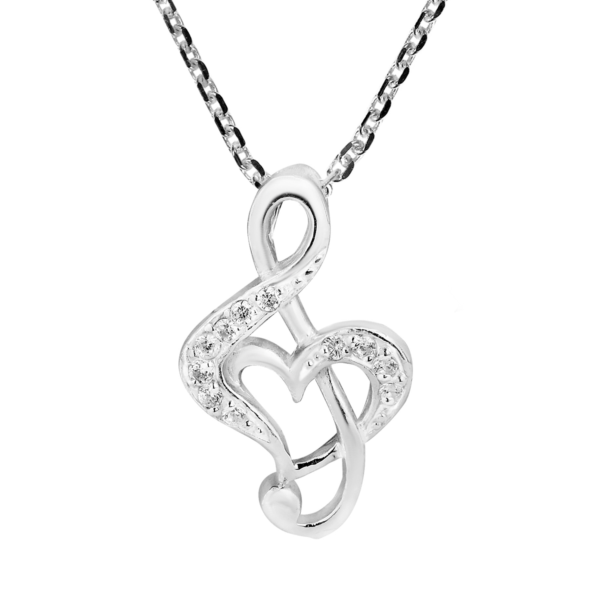fine sterling sheet silver pin musical pendant music handmade necklace with notes