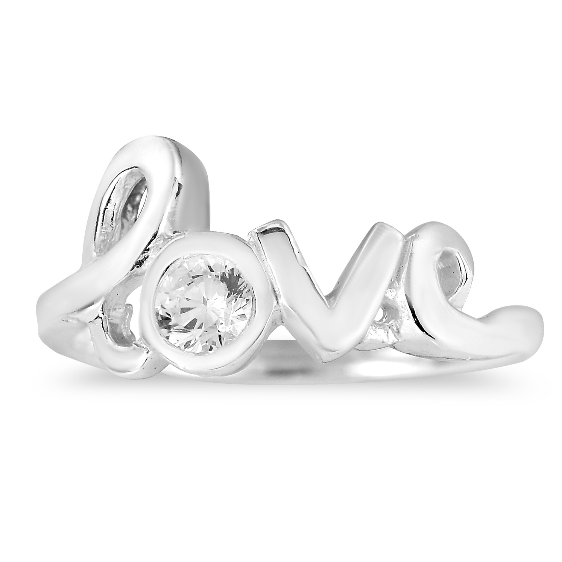 "f45e31c430 This very cute and stylish ""love"" ring is made using the finest sterling  silver. True craftmanship is on display with this intricate handmade design."