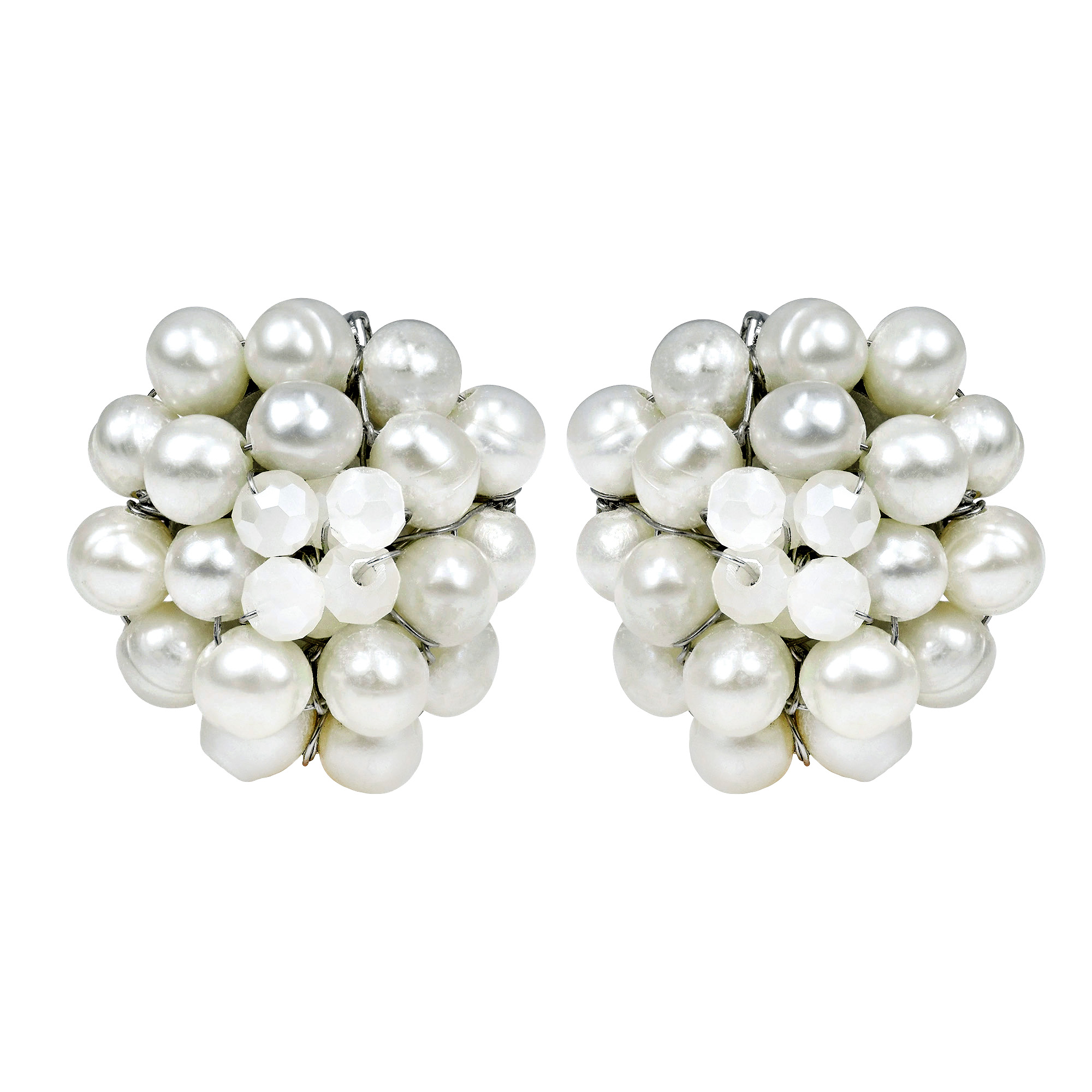 white button women earring pearl ets freshwater jewelry earrings for genuine aobei pearls