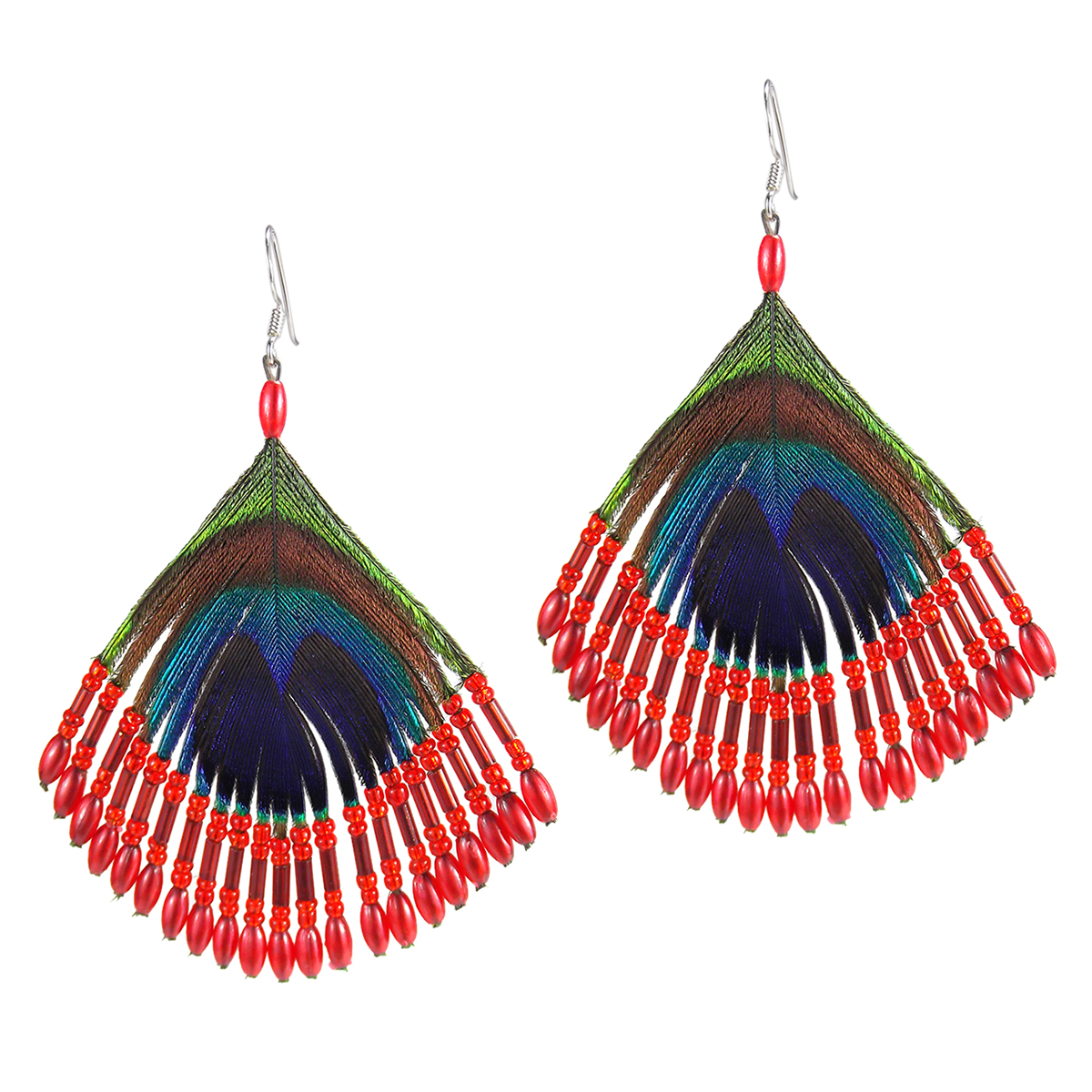 tassel earrings products hot katie silk kime coral pink