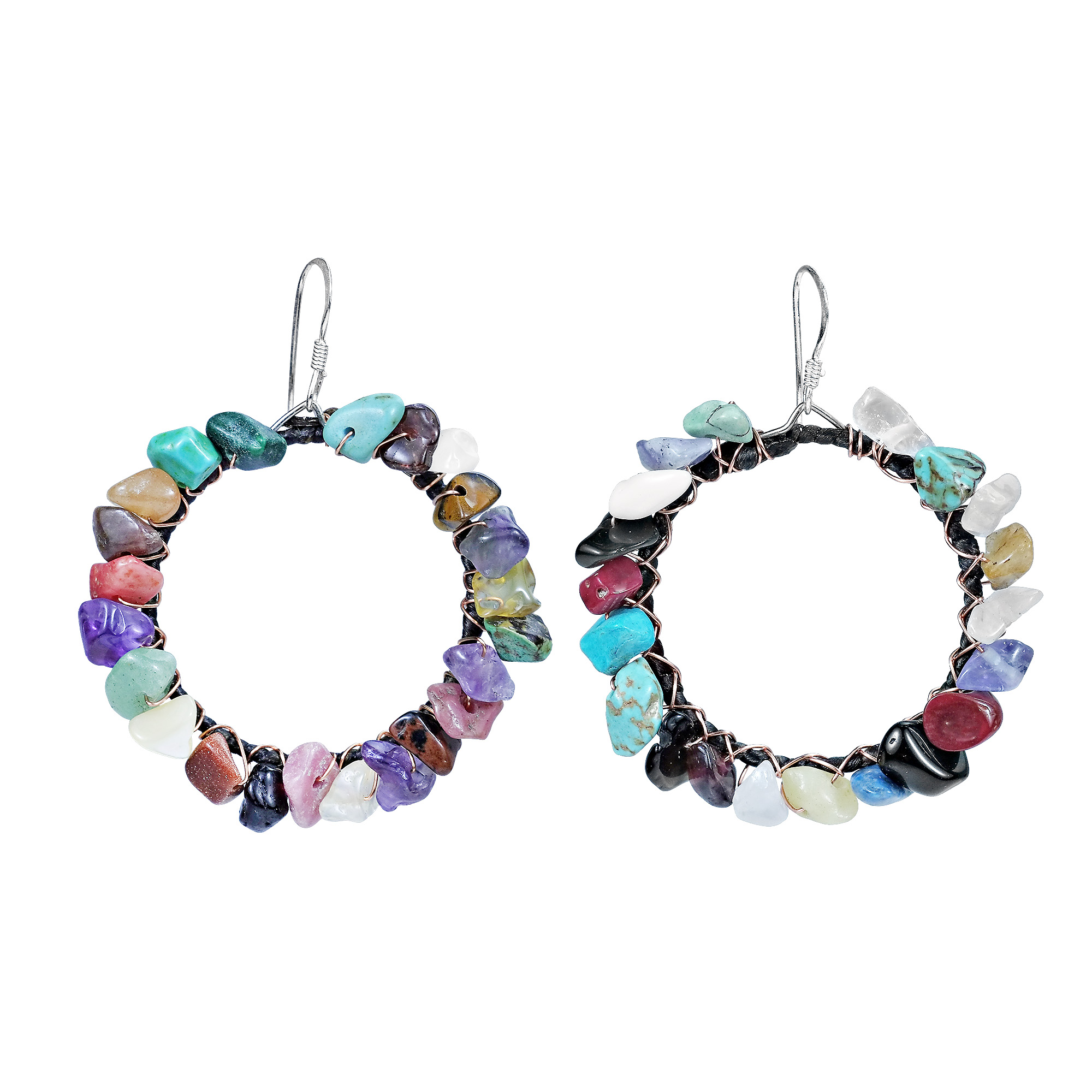 earrings round product lyst gallery gemstone normal jewelry multi pearl multicolor cluster majorica