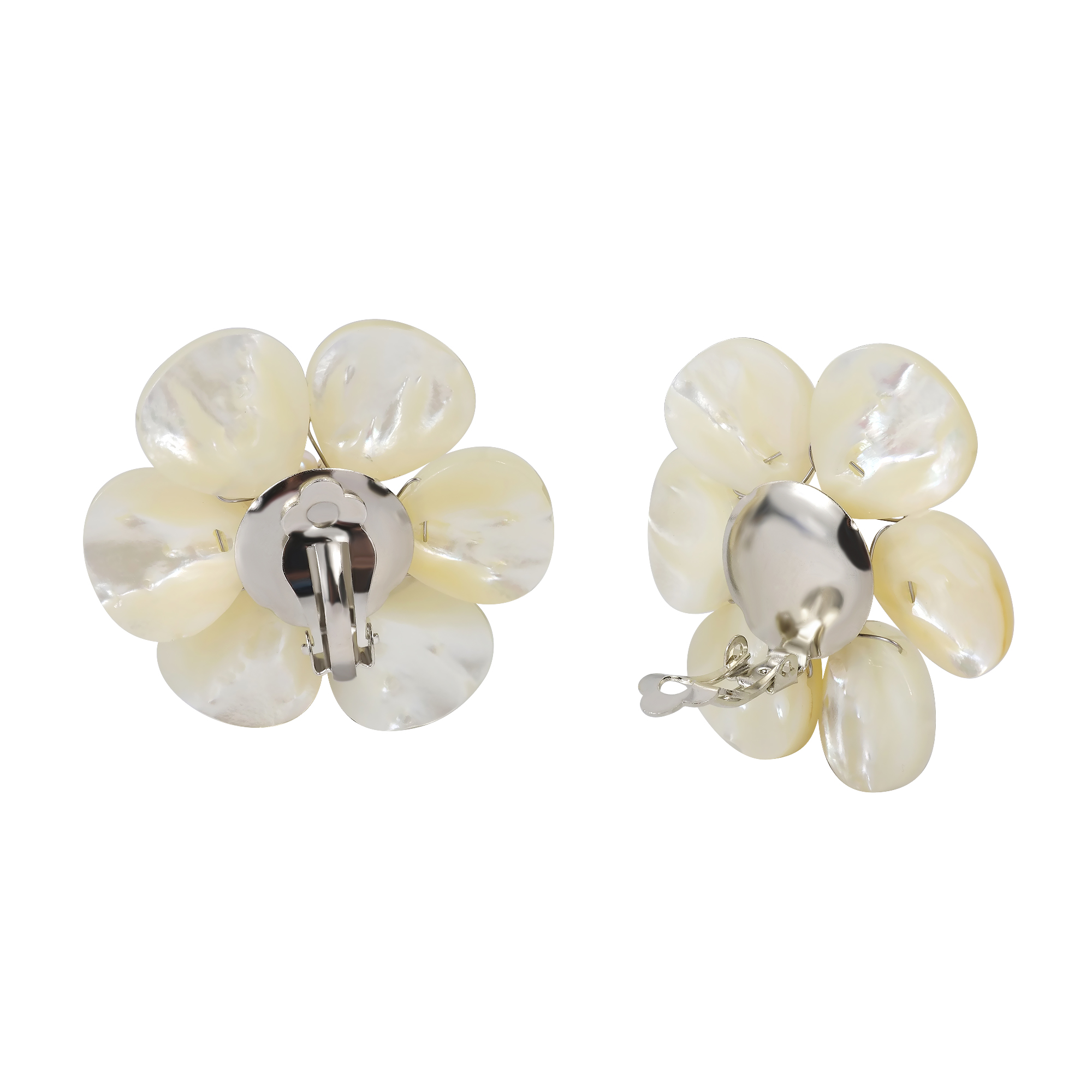 Flower Power With Lustrous White Mother Of Pearl Shell, And Natural  Freshwater Pearls These Handcrafted Earrings Are Versatile To Fit Any  Style And A Great