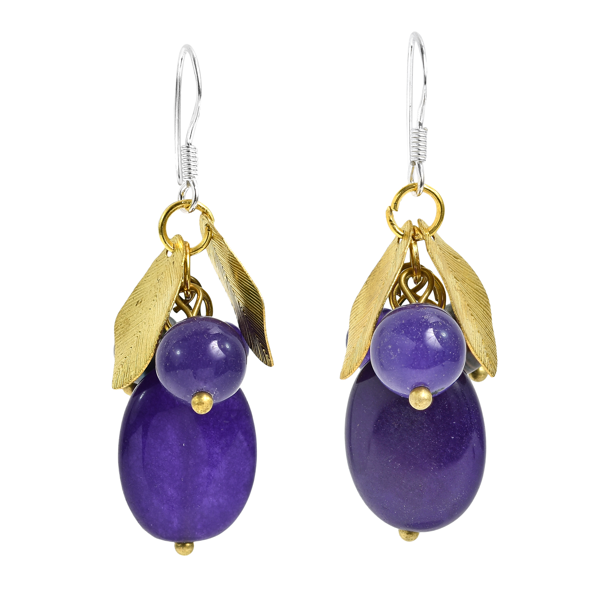 with worn hoop and goldtone graces stone amethyst earring products gratitude earrings