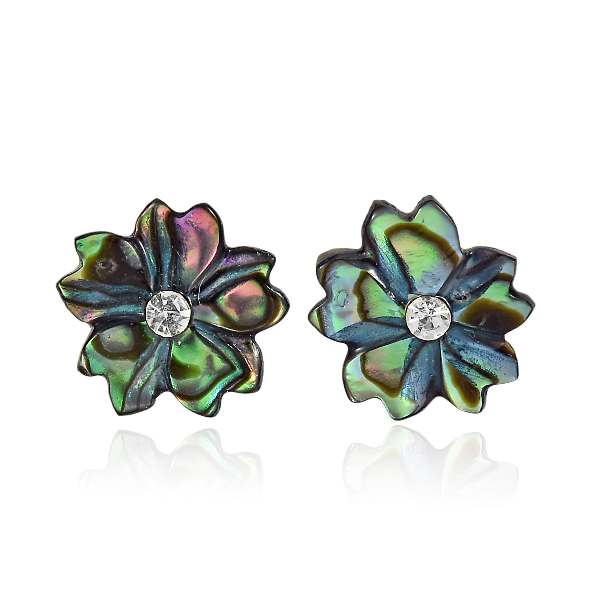 stud jacket earrings pin interchangeable abalone