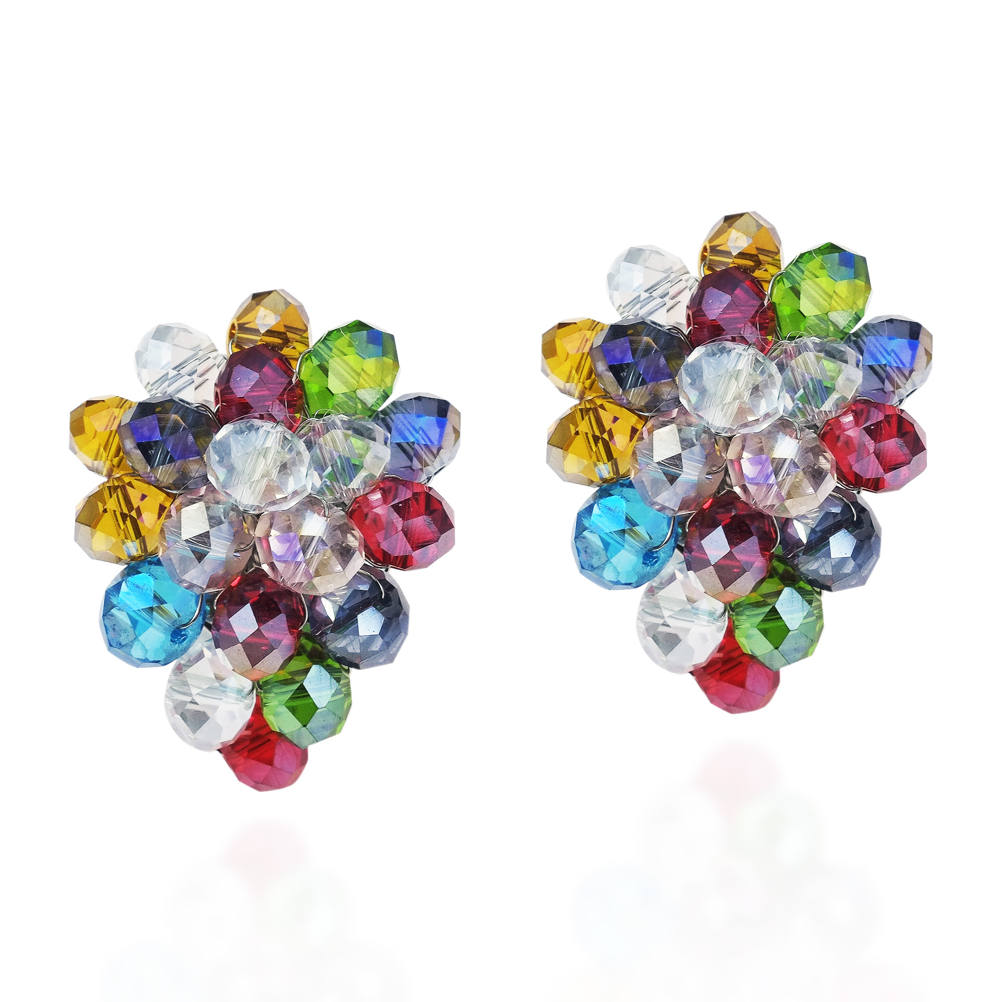 studs earrings round color kate glitter rainbow spade multi store