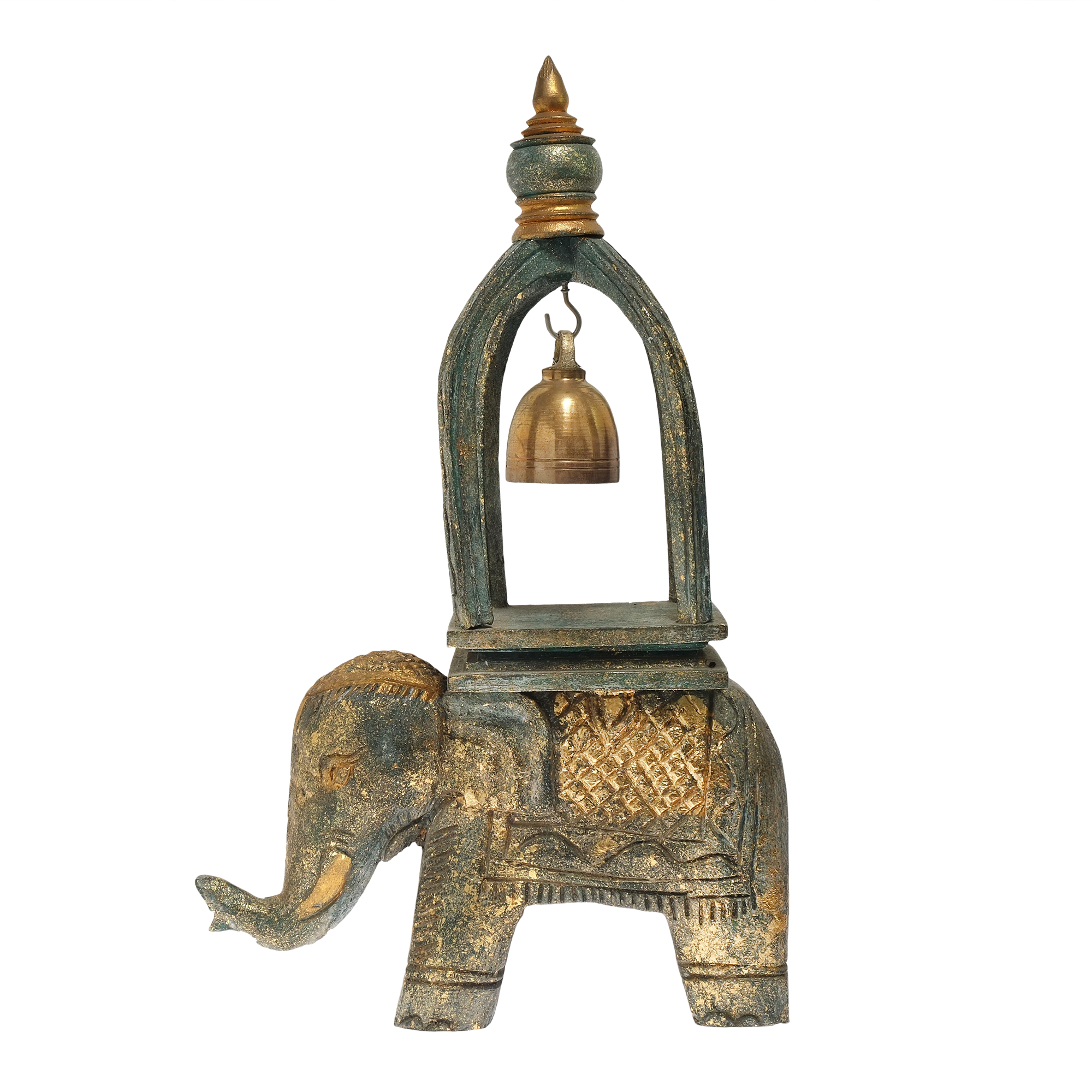 Elephant ring of good fortune bell carved golden moss wood and in chinese and asian cultures the elephant is symbolic of happiness longevity and good luck designed in the spirit of this ancient symbolism buycottarizona Gallery