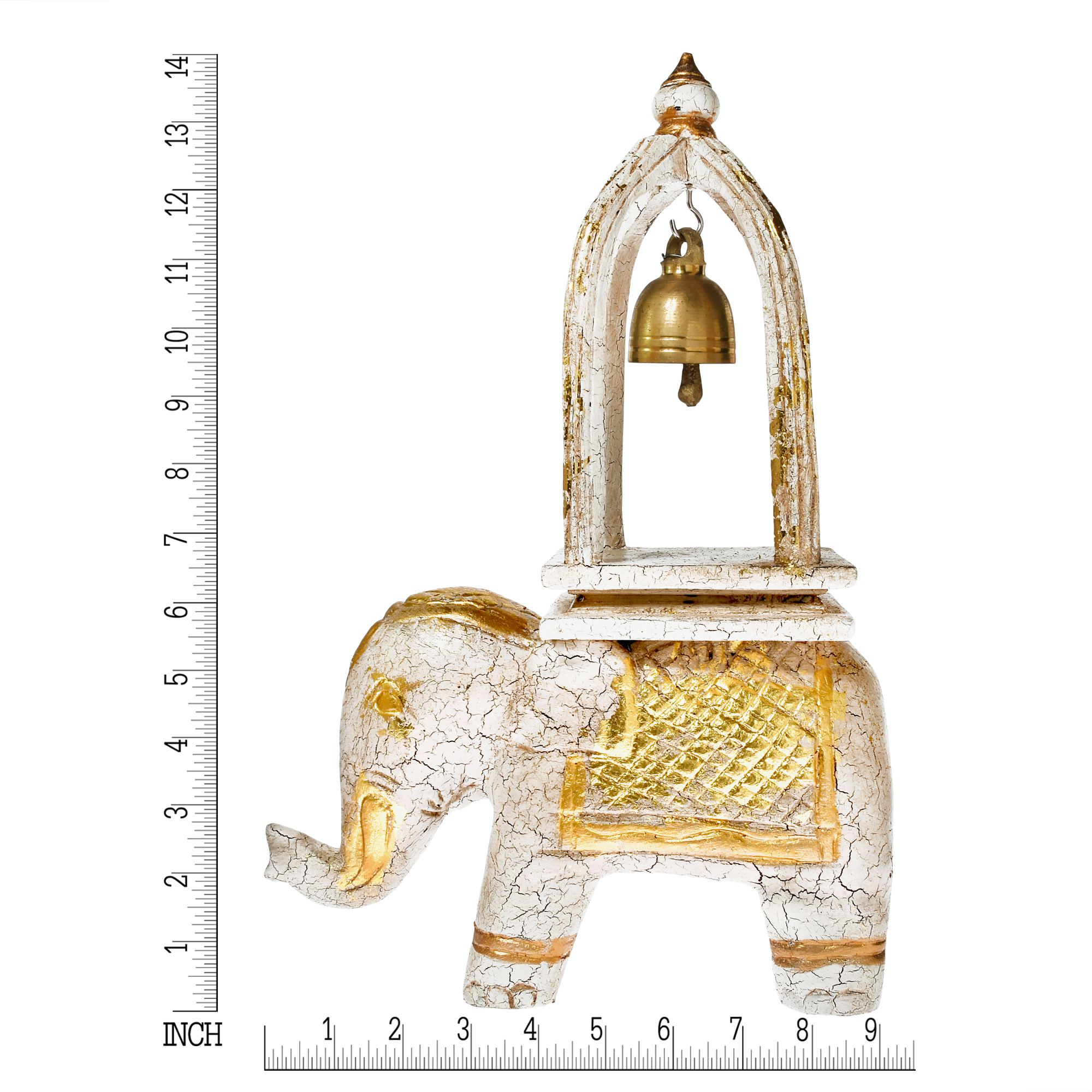 White elephant ring of good fortune bell carved wood and brass in chinese and asian cultures the elephant is symbolic of happiness longevity and good luck designed in the spirit of this ancient symbolism buycottarizona Gallery