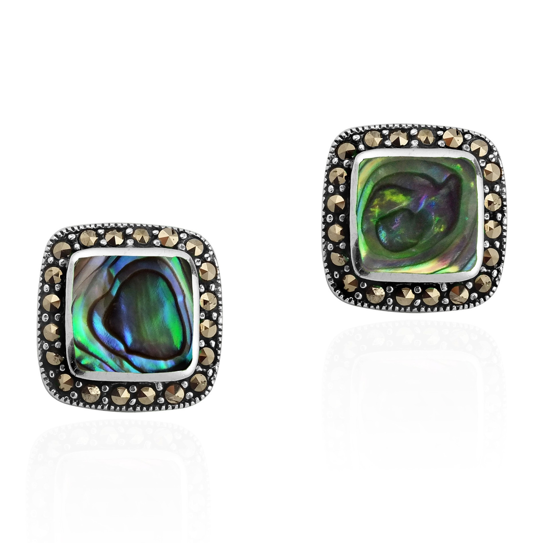 jewel double mini horn stud earring axl jacquie aiche jewelry abalone