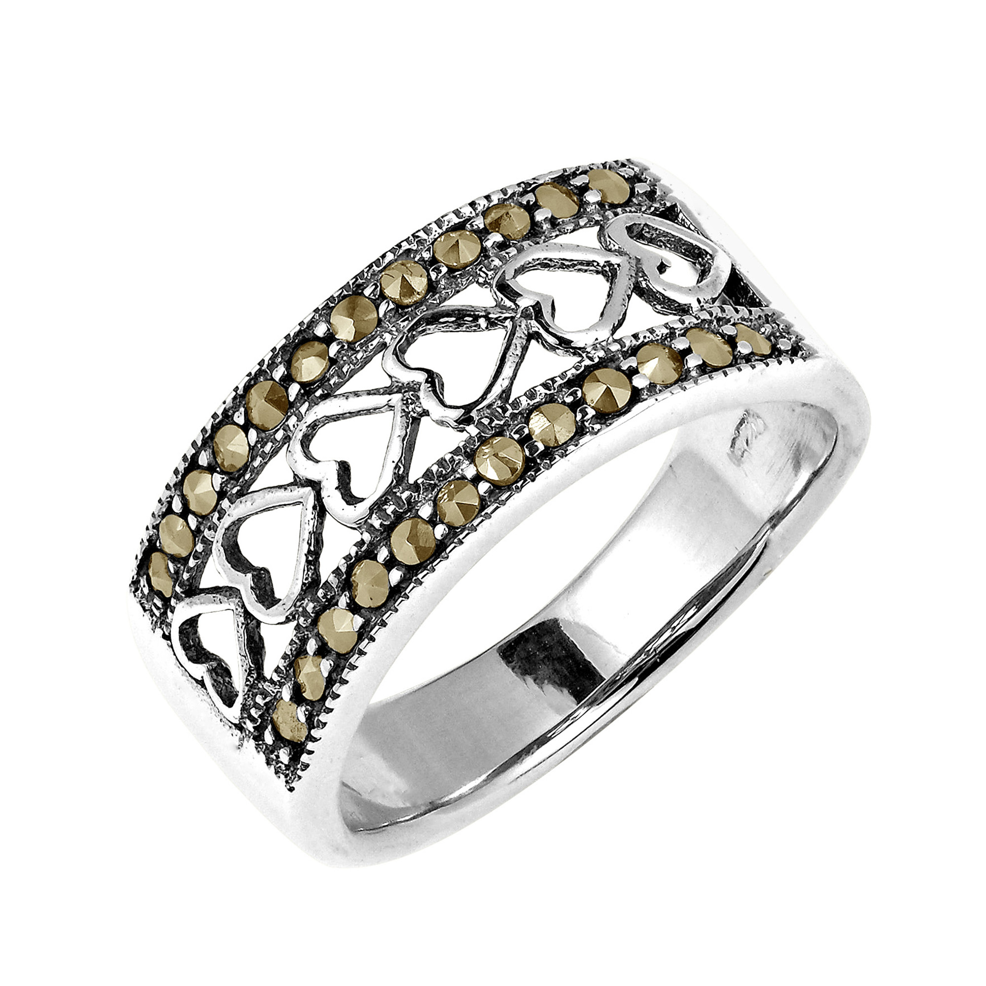 sterling in rings product silver lyst prongs ringmarcasite pomellato marcasite cabochon ring gallery jewelry