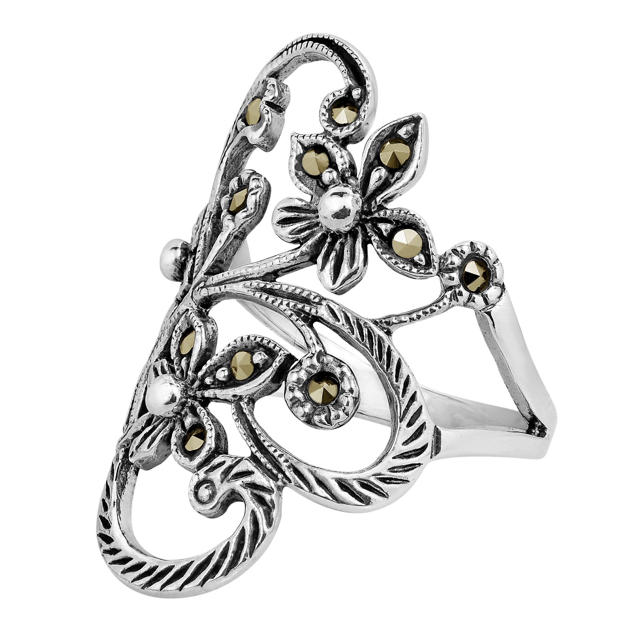 products hearts silver wide rings faithfulness handcrafted interconnected this marcasite beautiful ring mr details with eternal enchanting love encircled symbolizes band simply aeravida and