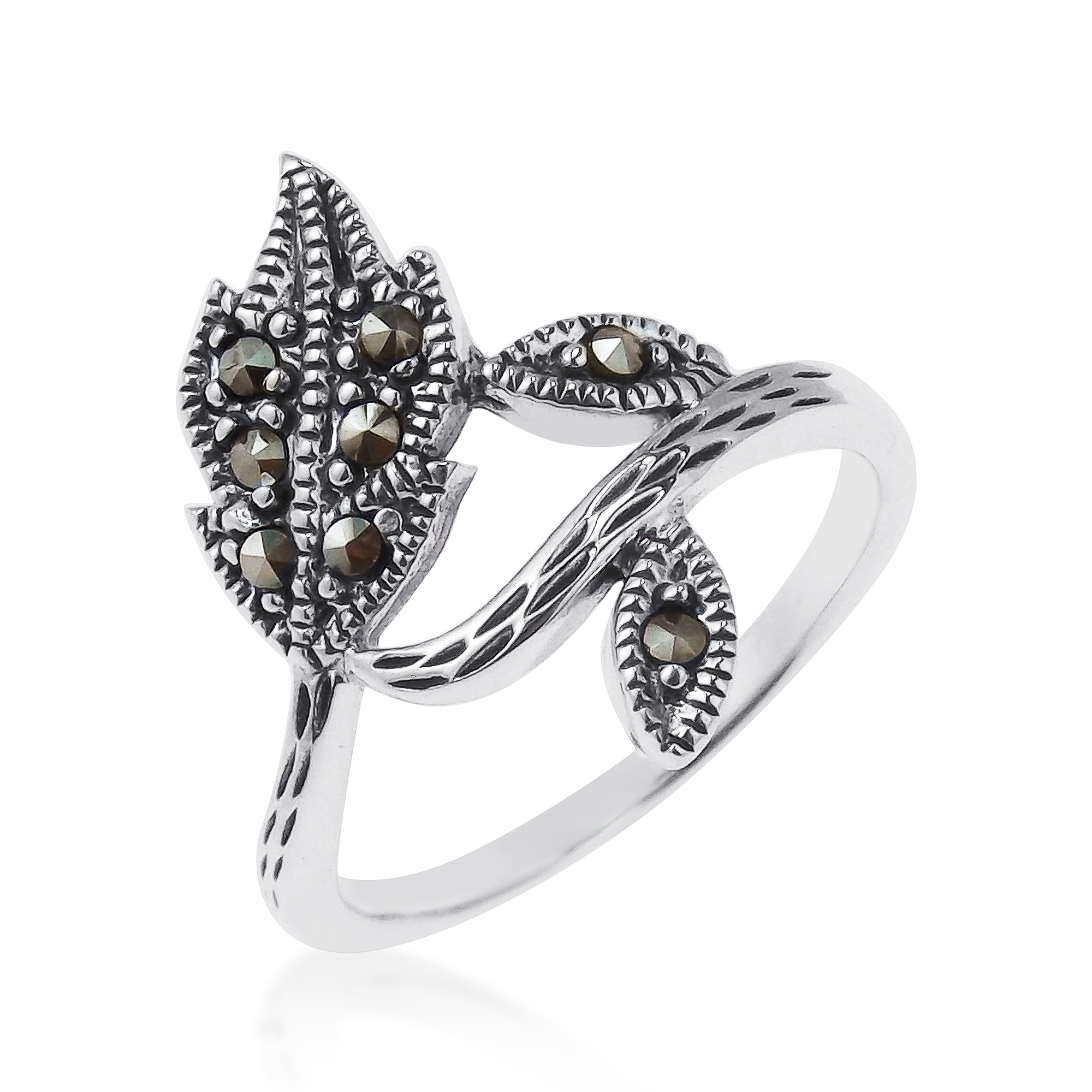 marcasite art deco products silver stars moon sterling stone rings ring shot