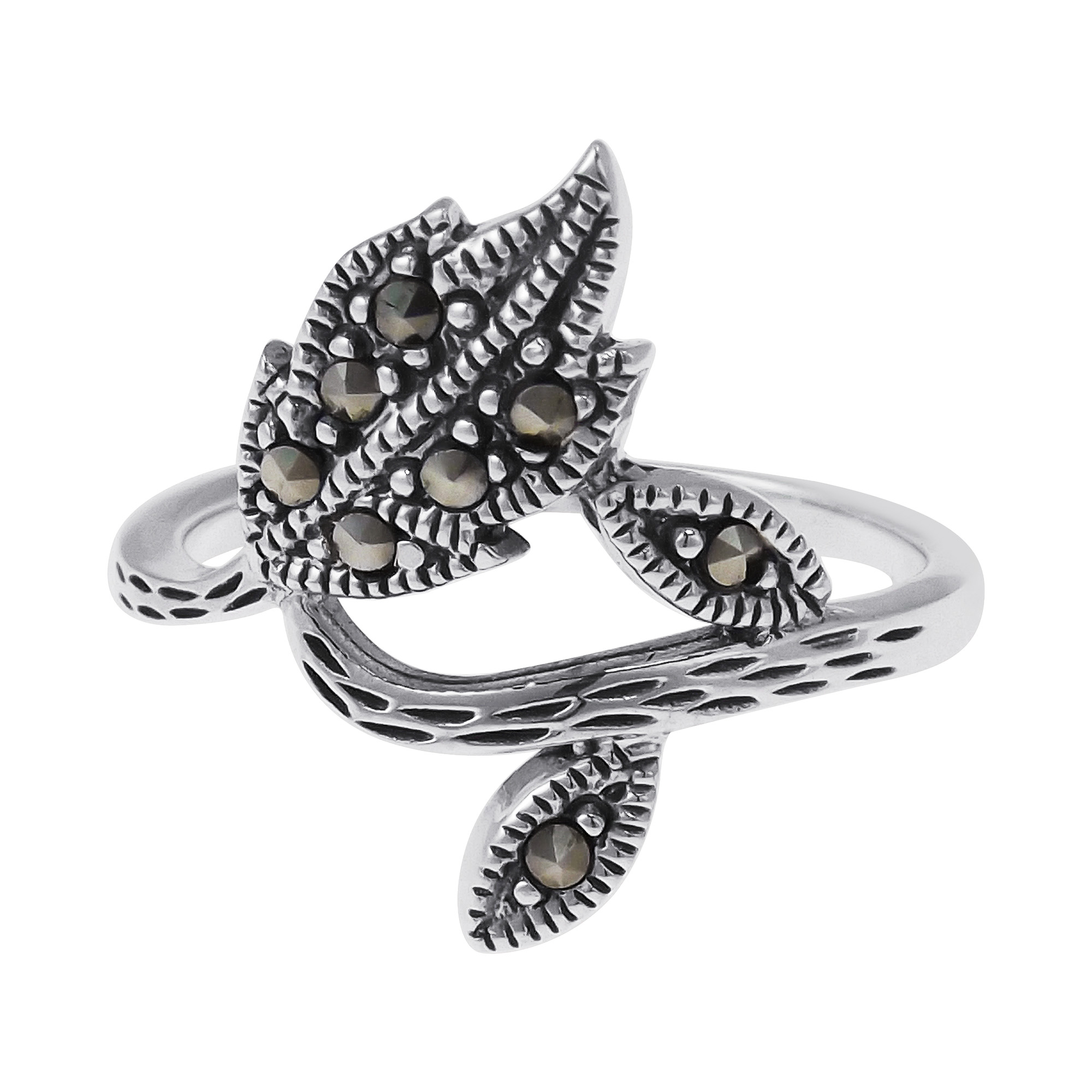 ring stone sterling deco rings art shot silver marcasite moon products stars
