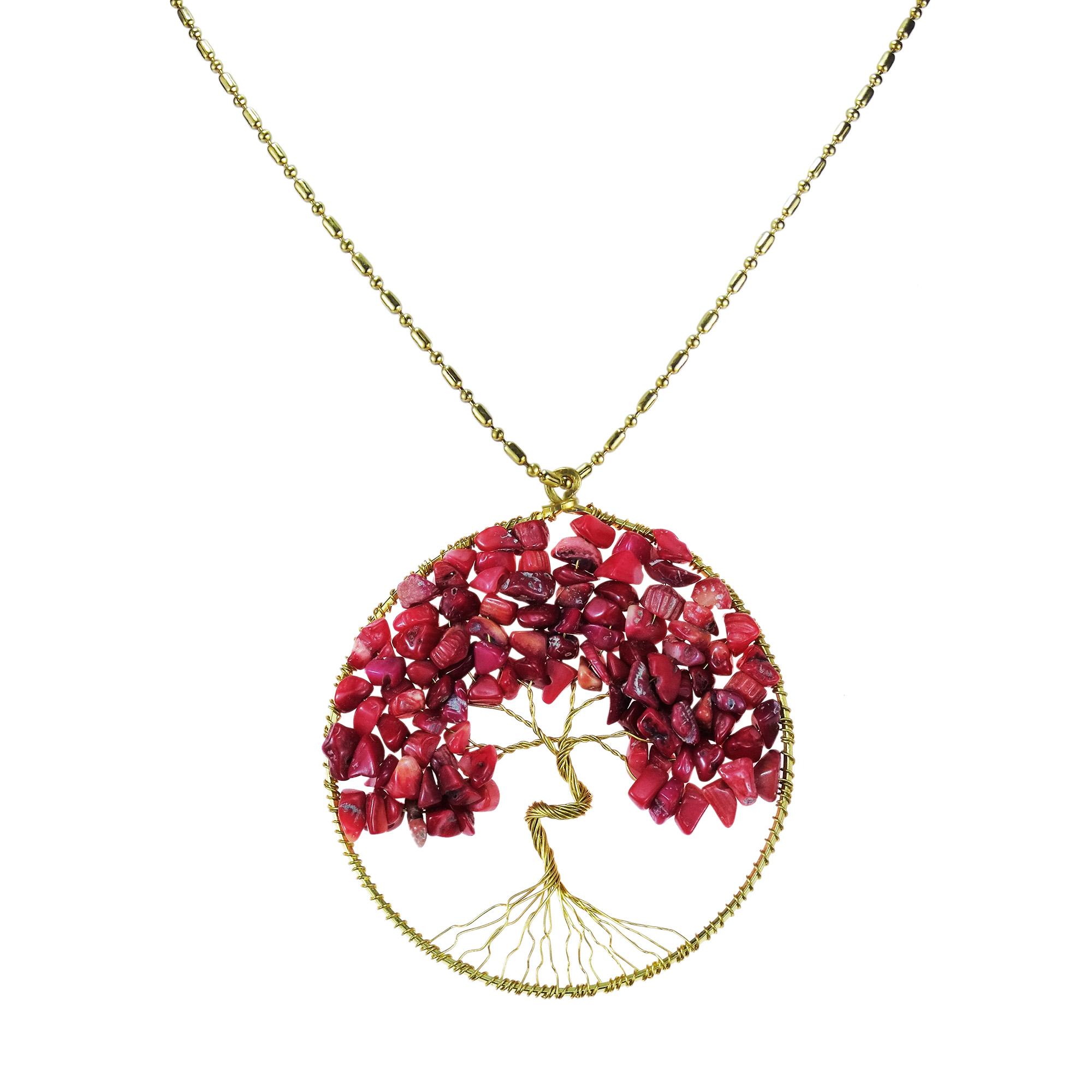 quartz necklaces necklace ruby shop rose pendant gold red