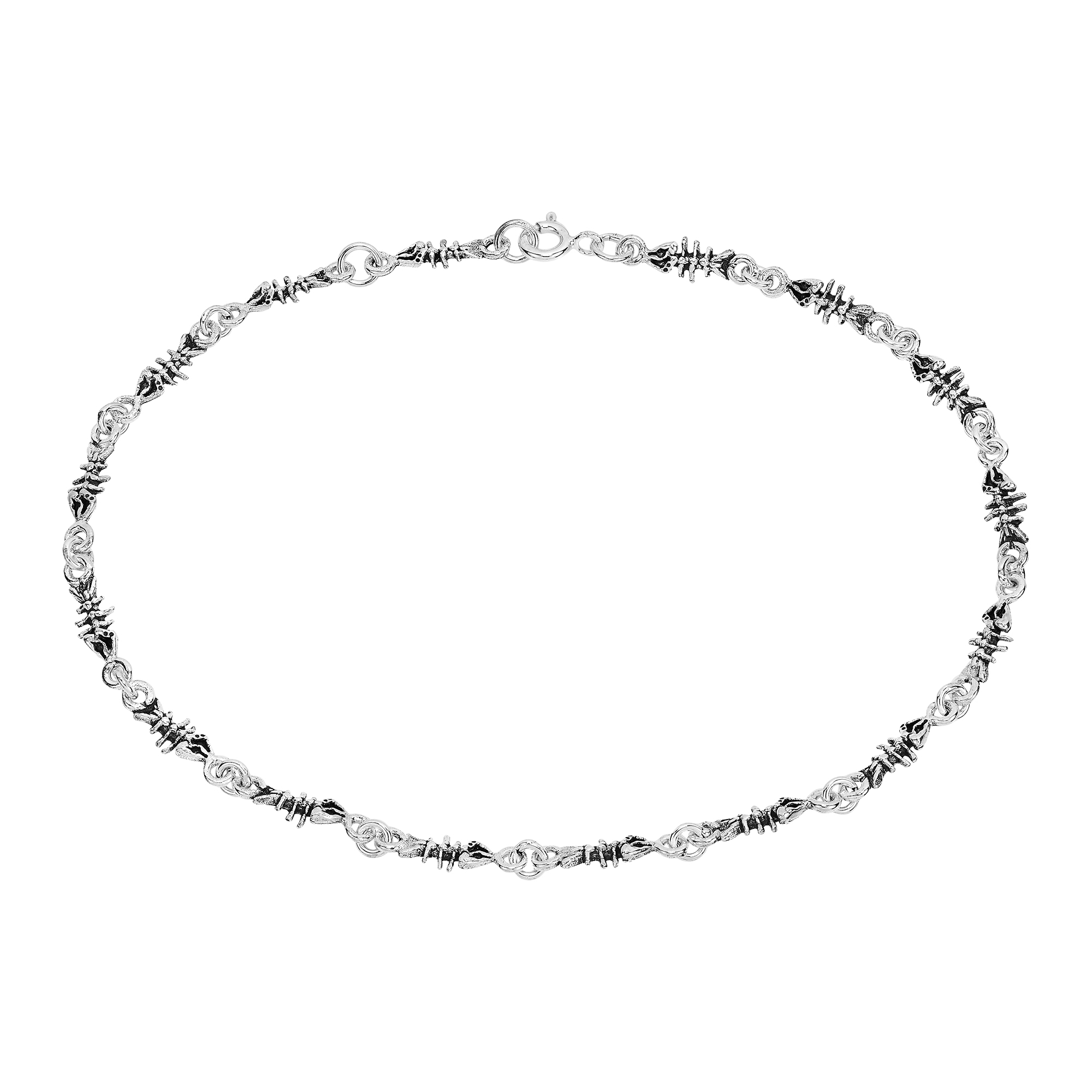 silver chain sterling eternity anklets anklet for br ladies