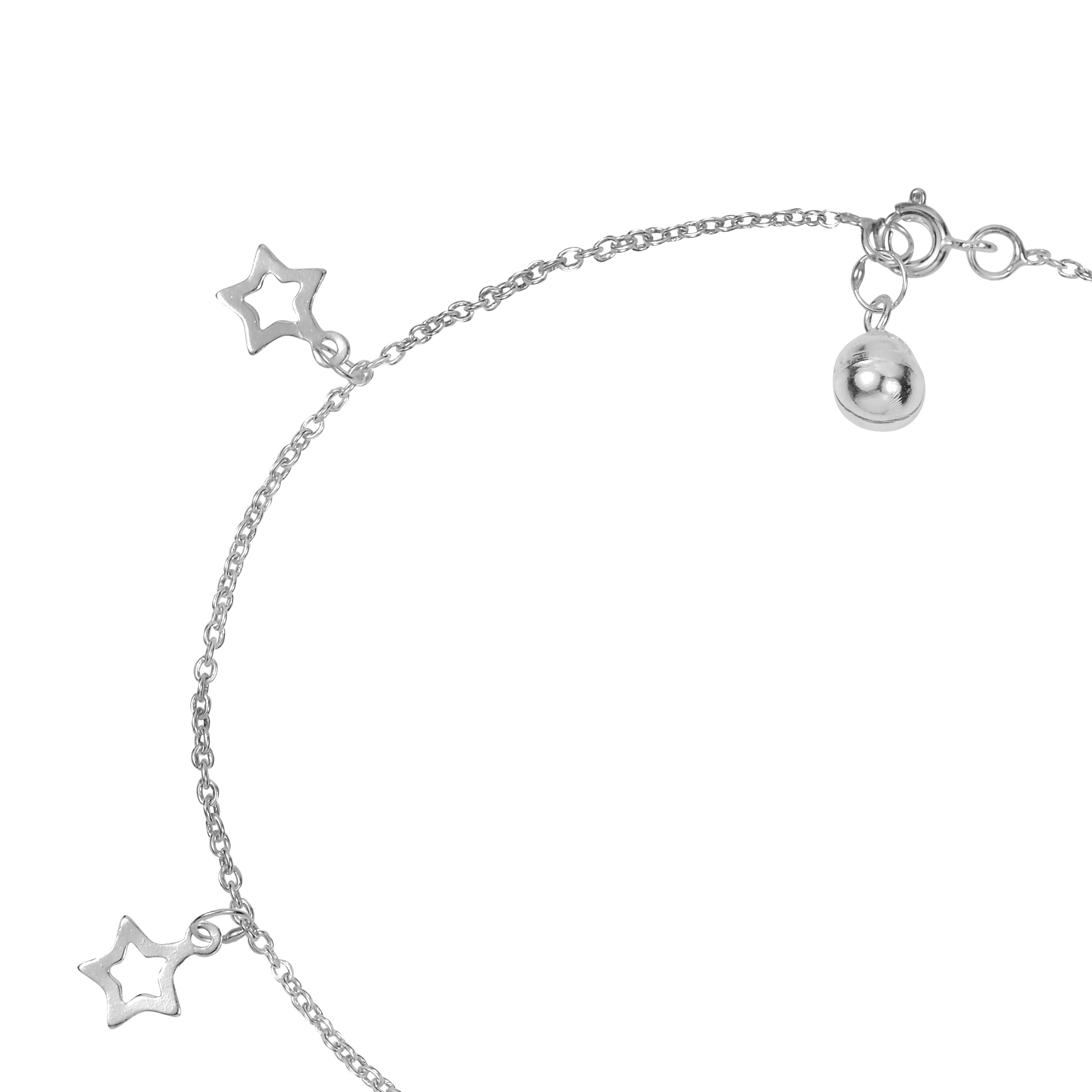 link uk double p seven lock school silver asp with anklet bracelets charm fastening heart sterling inch