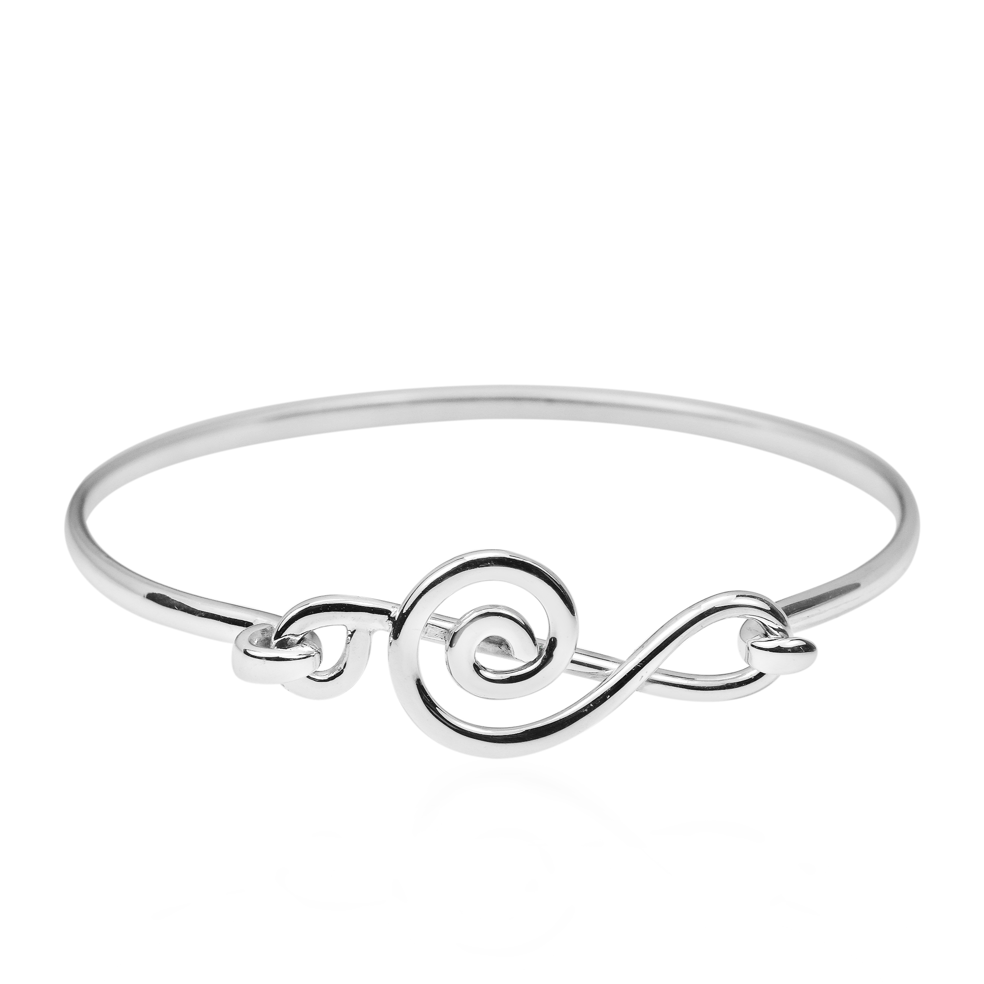 cuff bracelets womens twisted bangle infinity celtic silver sterling plaited products design bangles entwined bracelet silverly plain