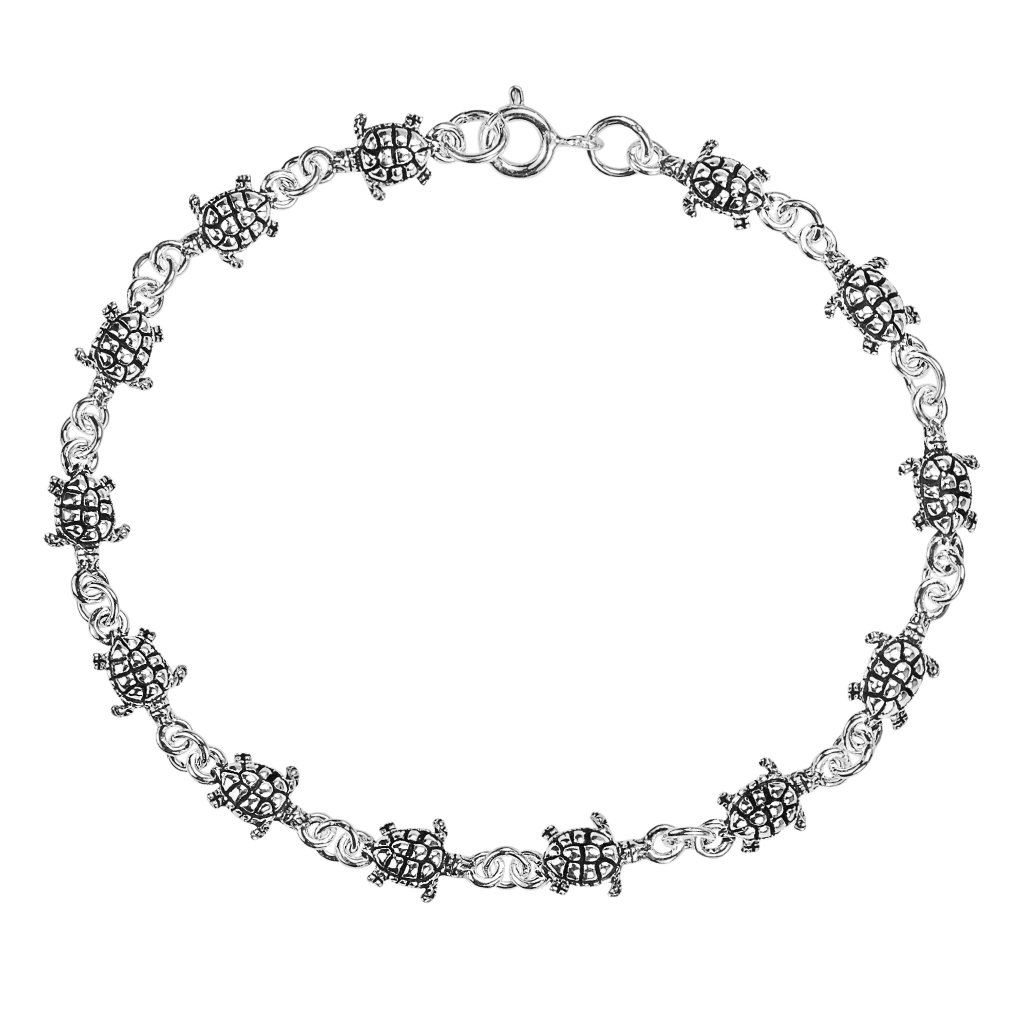 bracelet silver details crafted with features turtle link fashionable bracelets thailand mini your plain links pb turtles wrist accessorize this products from sea cute aeravida