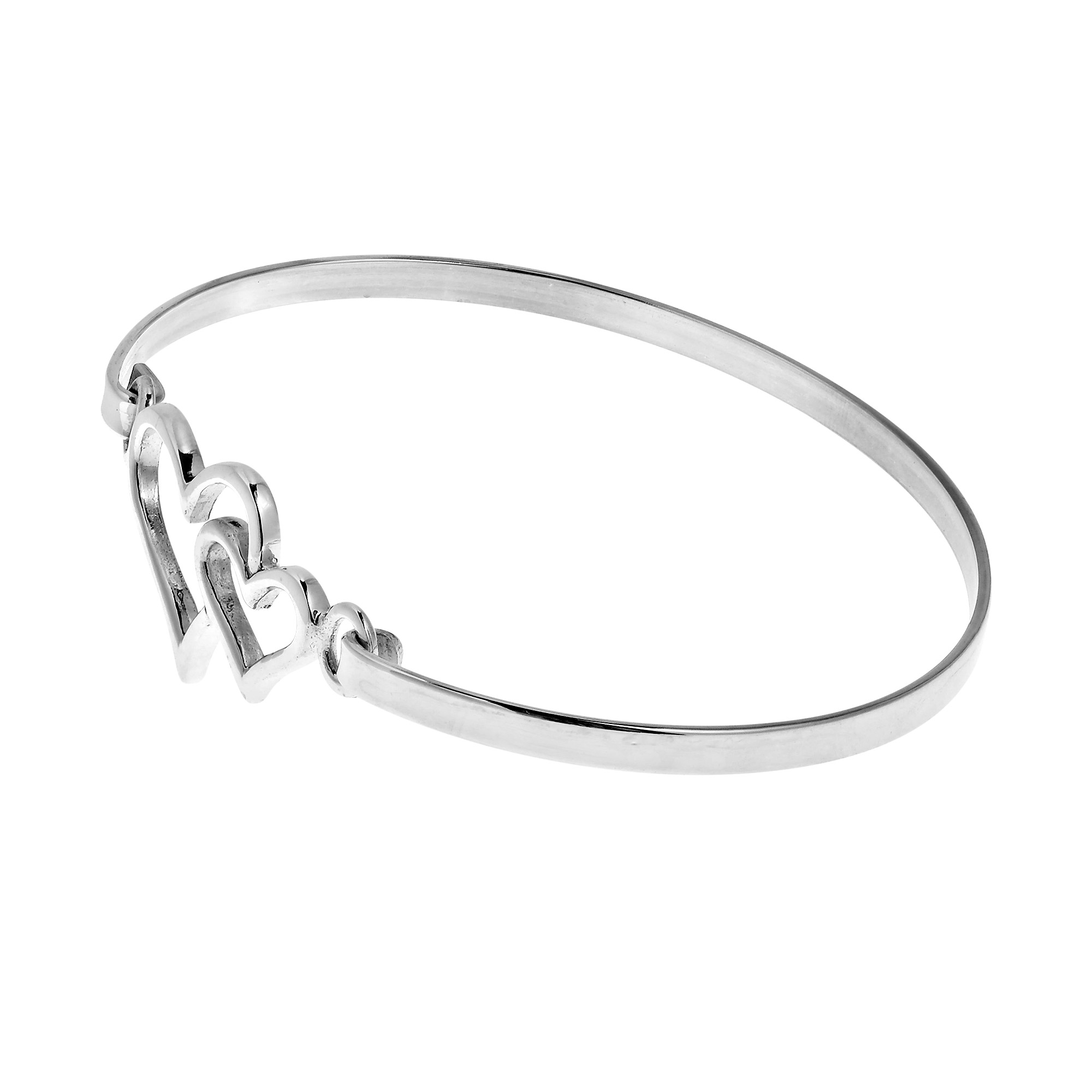 sterling bracelet oval pin plain hammered bracelets profile solid bangles bangle silver