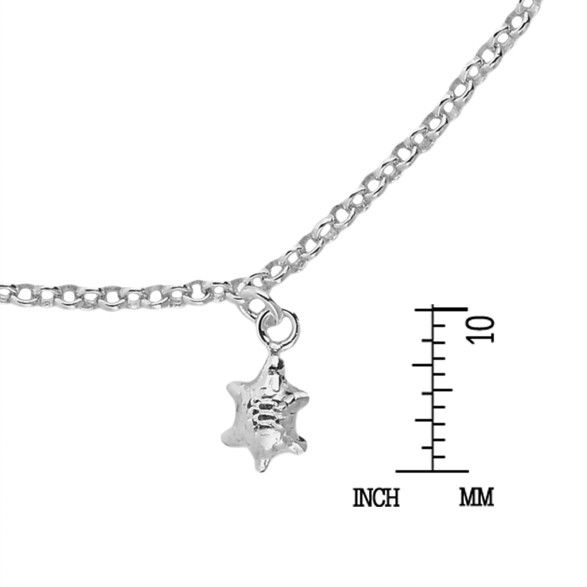 Mini Baby Sea Turtle Jingle Bell Charm Sterling Silver Bracelet