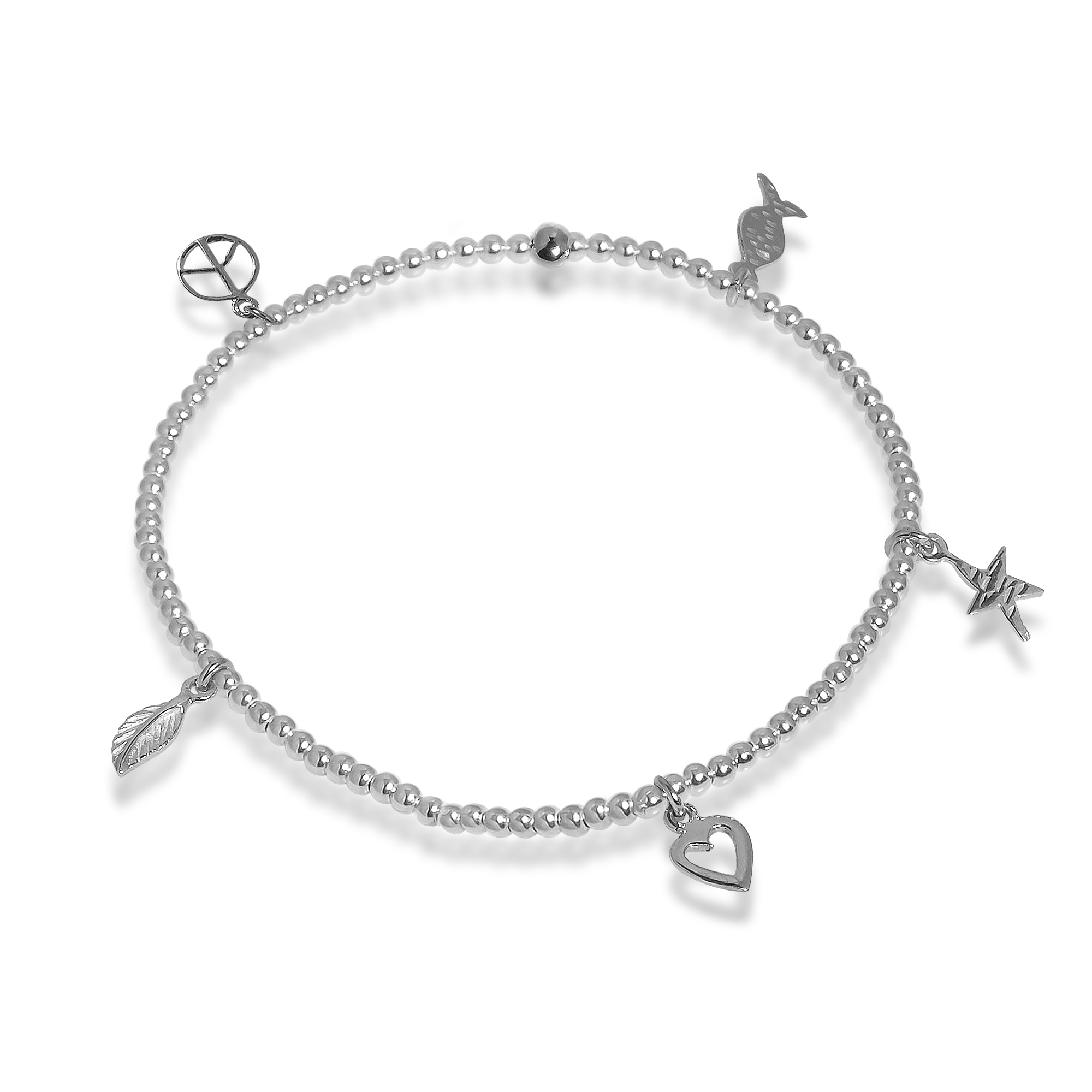 anklet flat tropicalmiss elastic chain silver products
