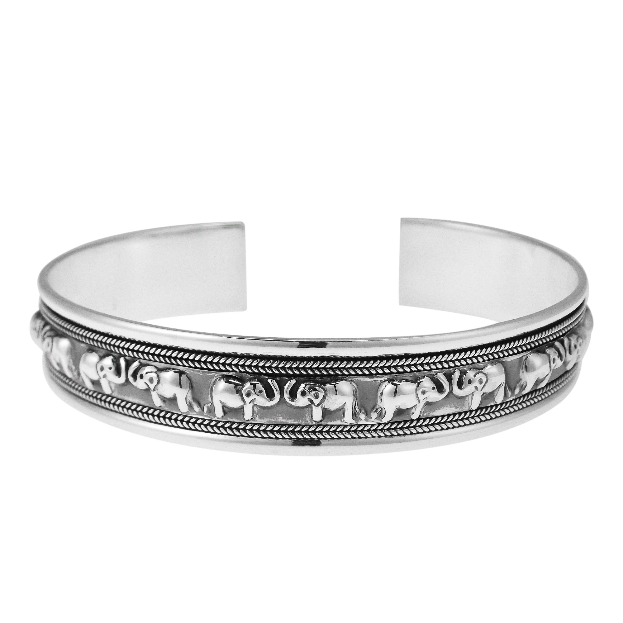 bracelet co f caputo oxidized artisan web products silver
