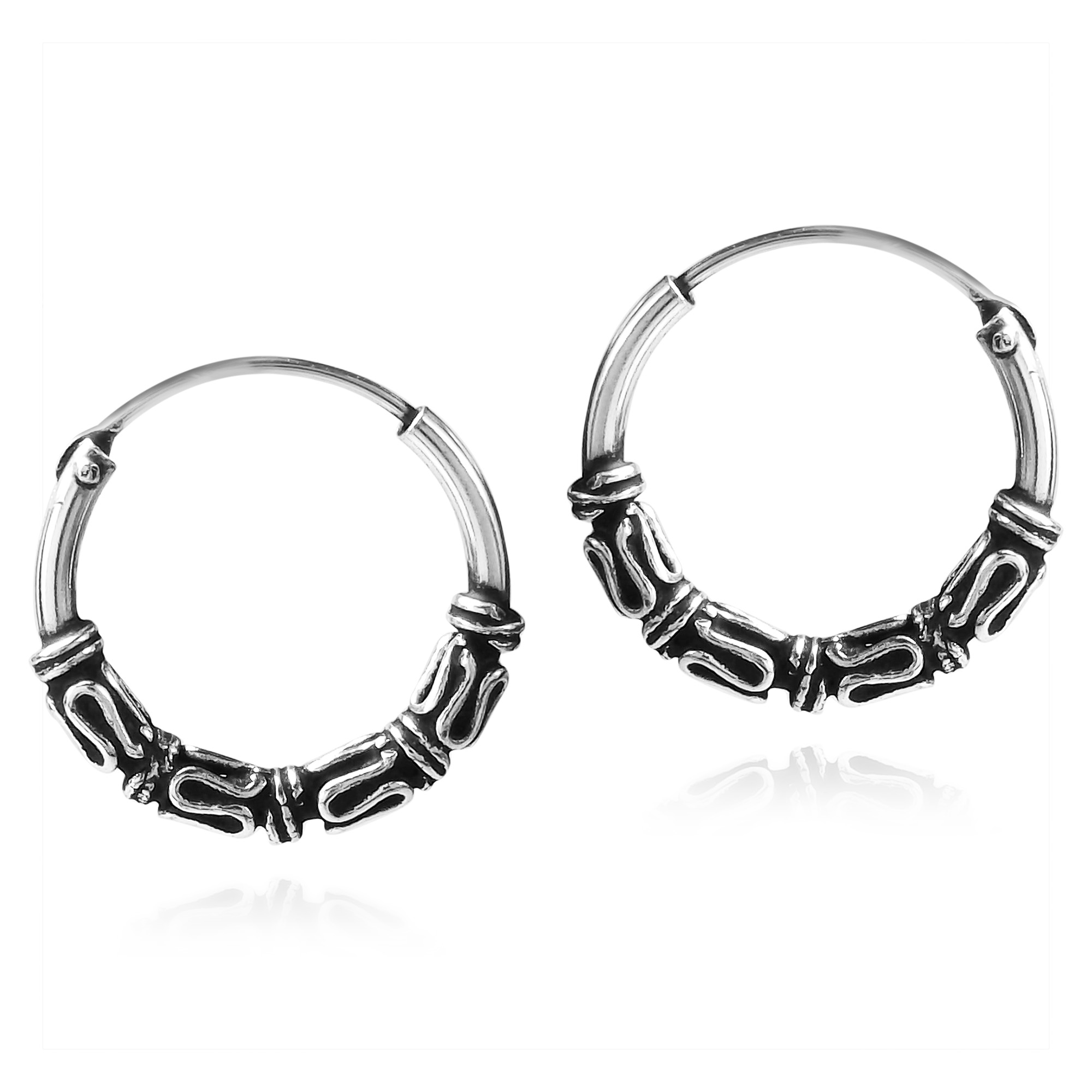 K Jai Handcrafted These Exotic Sterling Silver Earrings The Hoop Showcase A Balinese Inspired Tribal Design Since Can Go