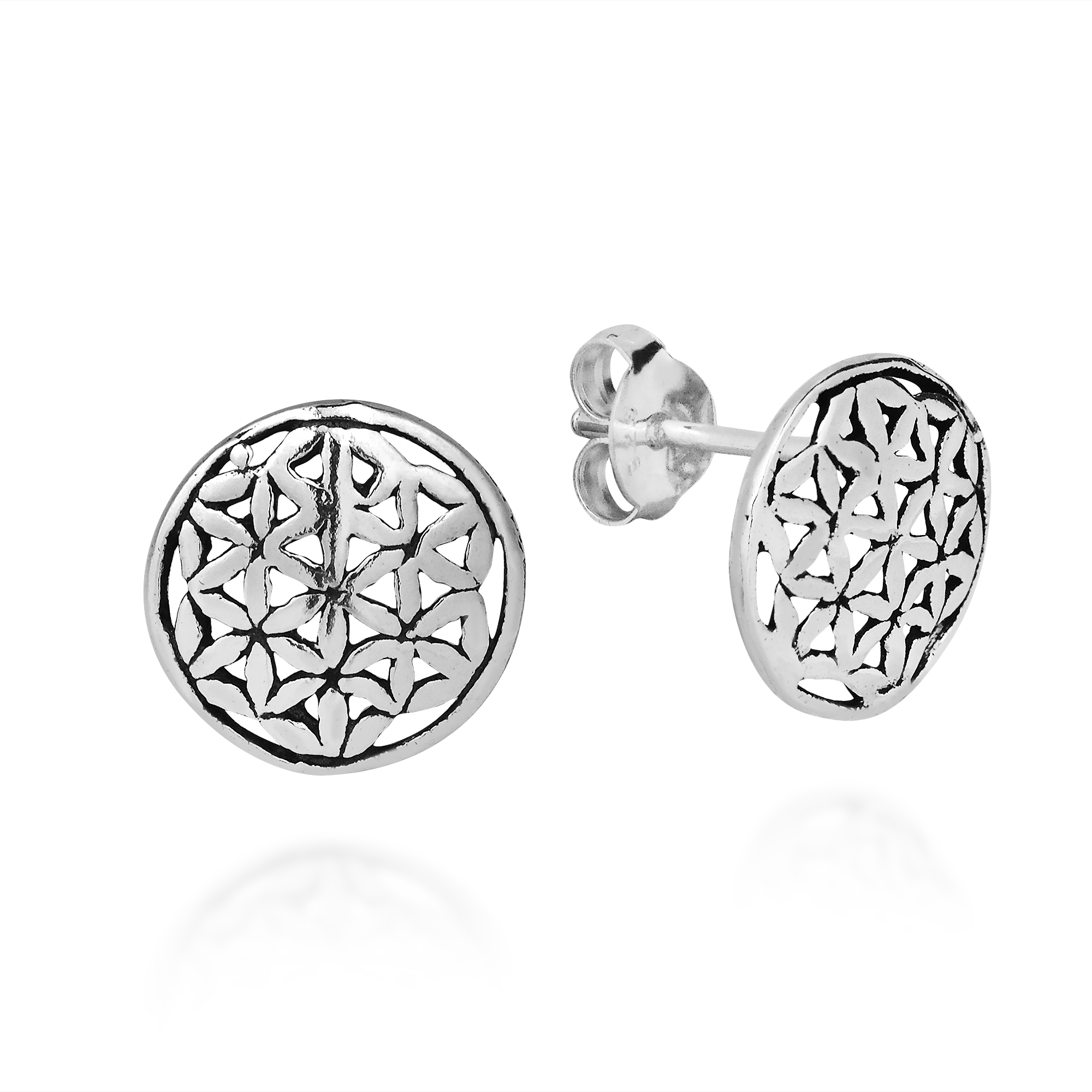 Silver Stud Post Earrings Product