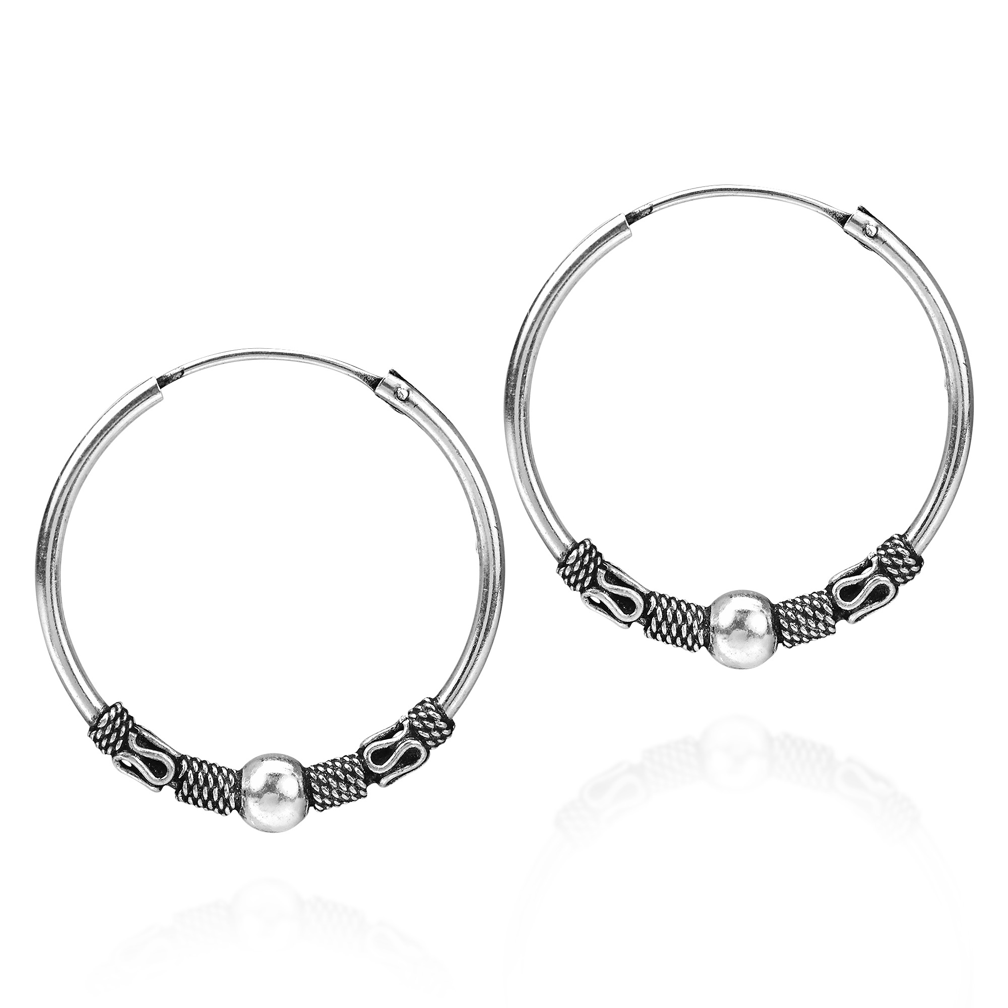 en delicate earrings boutique silver hoop circle happiness