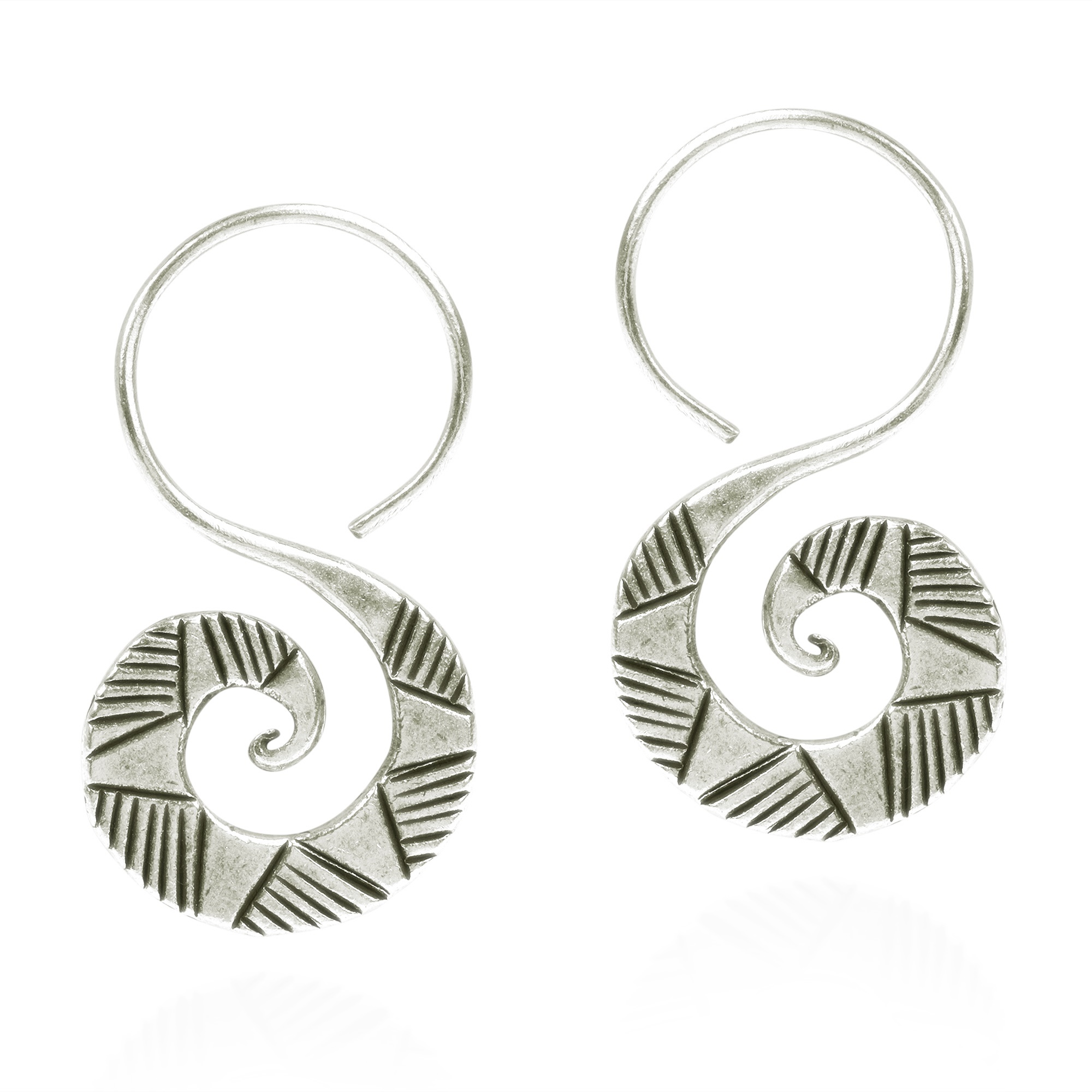 These Earrings By The Yao Hill Tribe Enthralls With Uniqueness Of Artistry Tribal Graphics And Shapes Were Carved Hand On Pure Silver Metal