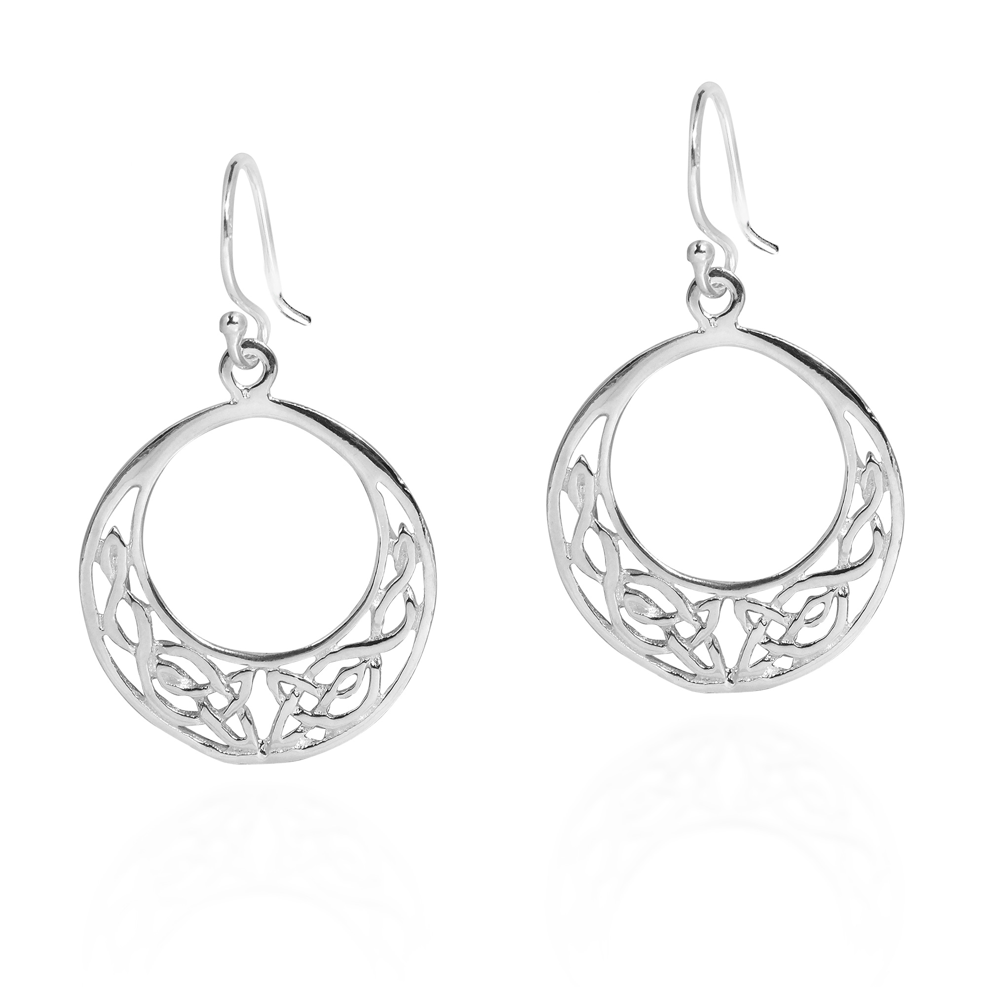 Katsaya Designed This Timeless Round Shape Sterling Silver Earrings From Thailand The Feature An Endless Weave Of Symbolic Celtic Knot