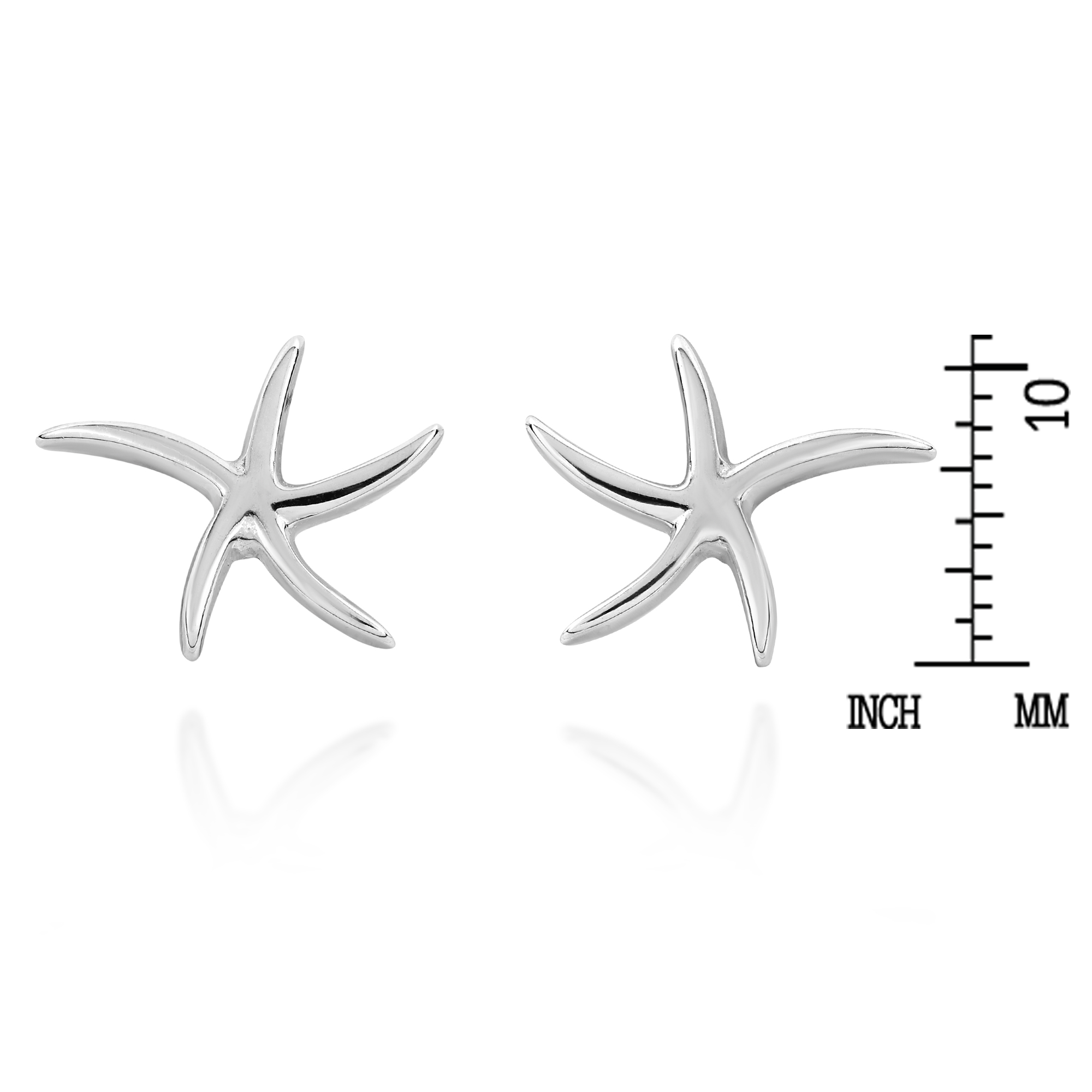 diamond gold set stud white earrings starfish