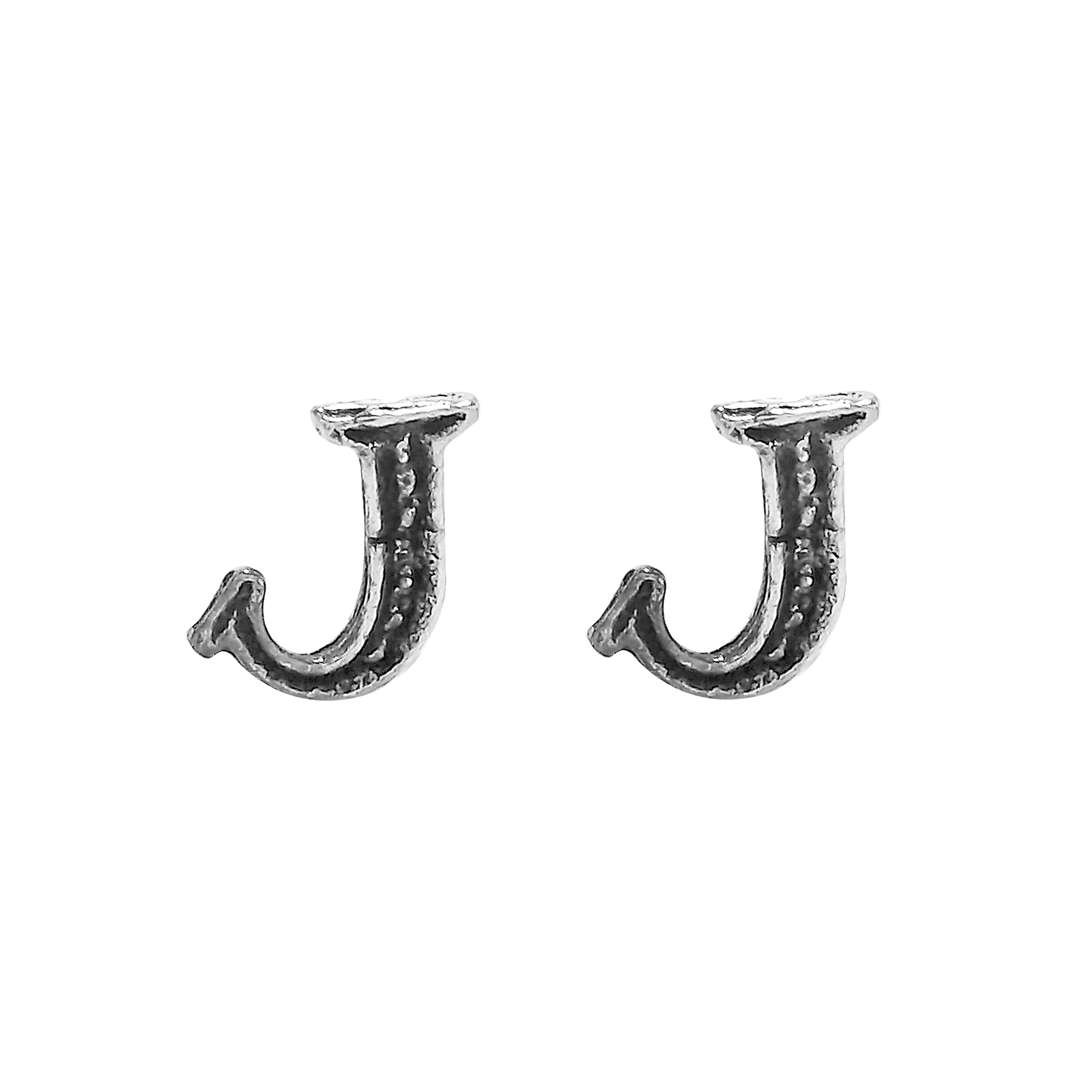earrings these of yet details every feature in handmade plain a the products this aeravida pe alphabet available silver pair simple letter stylish s stud sterling cool are