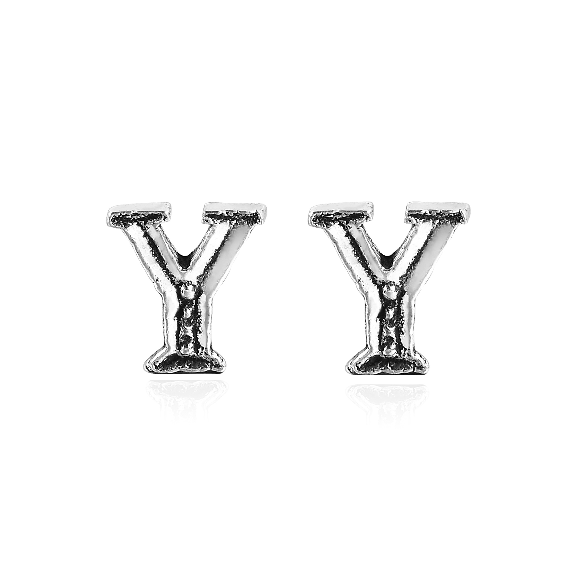 aeravida stylish alphabet m pe every a sterling plain pair stud these available this handmade earrings yet simple are letter silver details in cool the feature of products