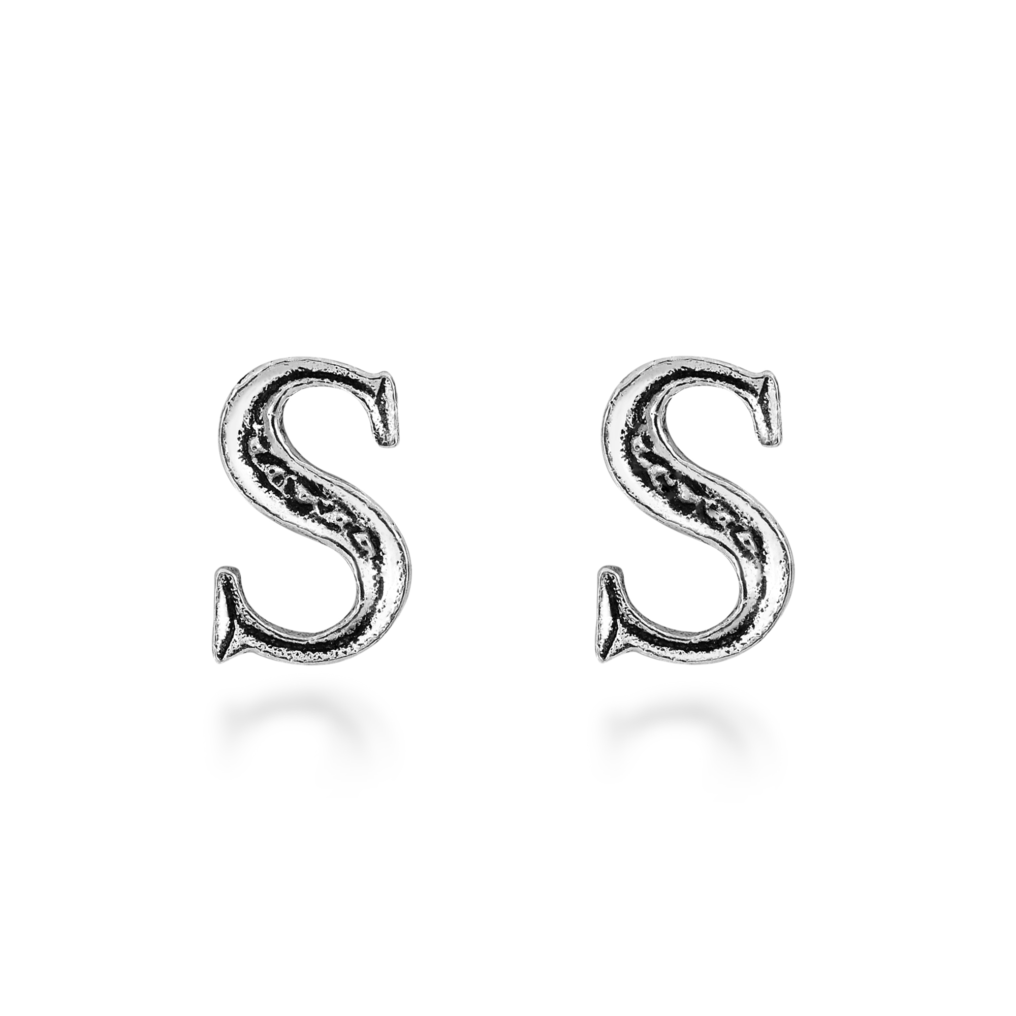 stud earring zoom silver sterling print jewellery simply paw earrings