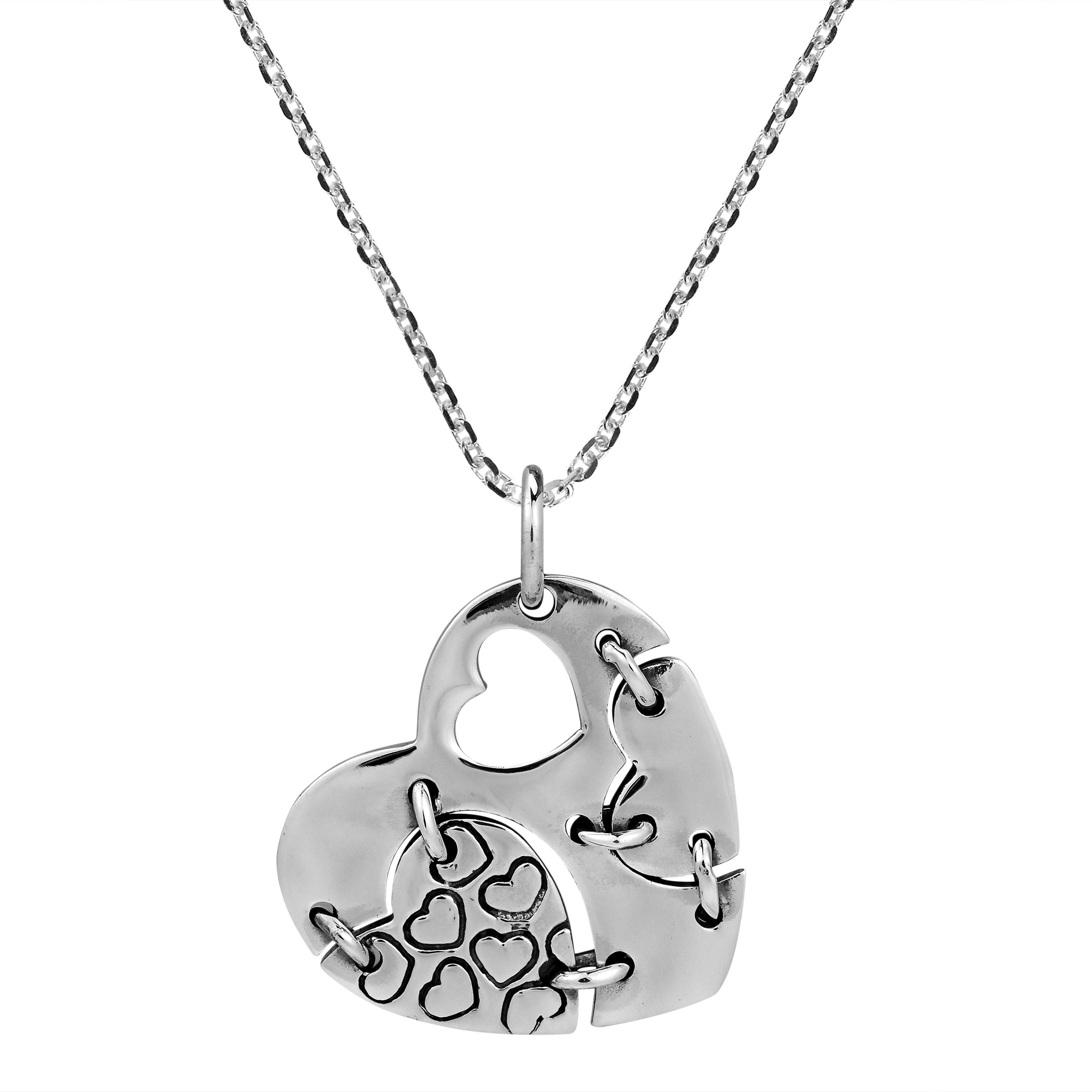 jewelry signature sterling in gallery necklace pendant lyst heart product gucci silver