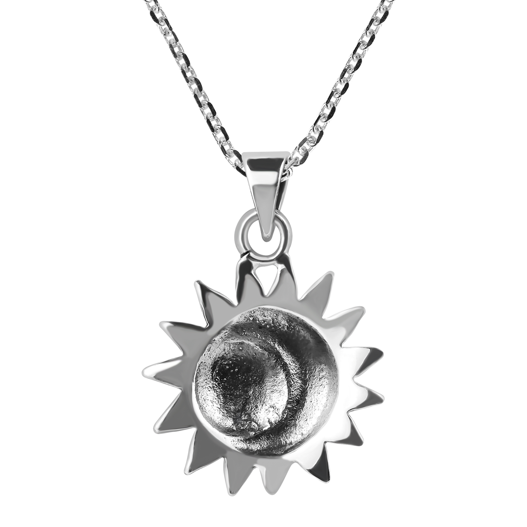 o necklace aeravida thailand beautiful s glinting plain silver and pendant this undefined in sterlng the combine personified products a sun celestial handmade of version moon features expert silversmith khun necklaces pn by
