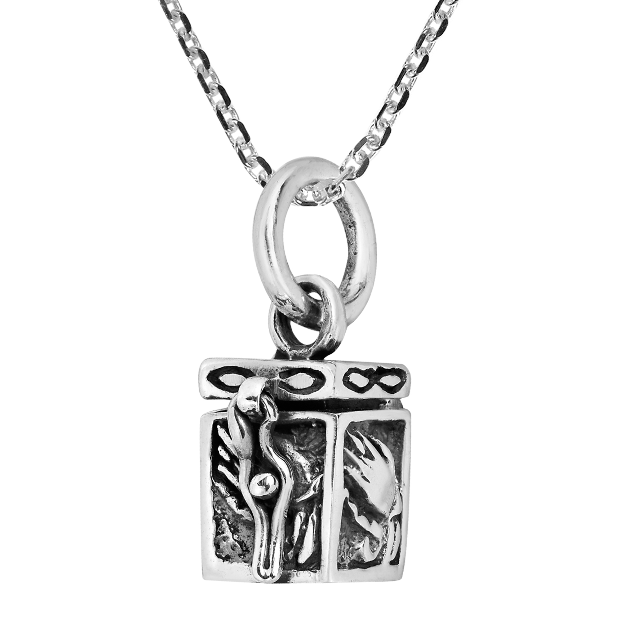 locket women s tom jewelry lockets silver wood in sterling lyst metallic