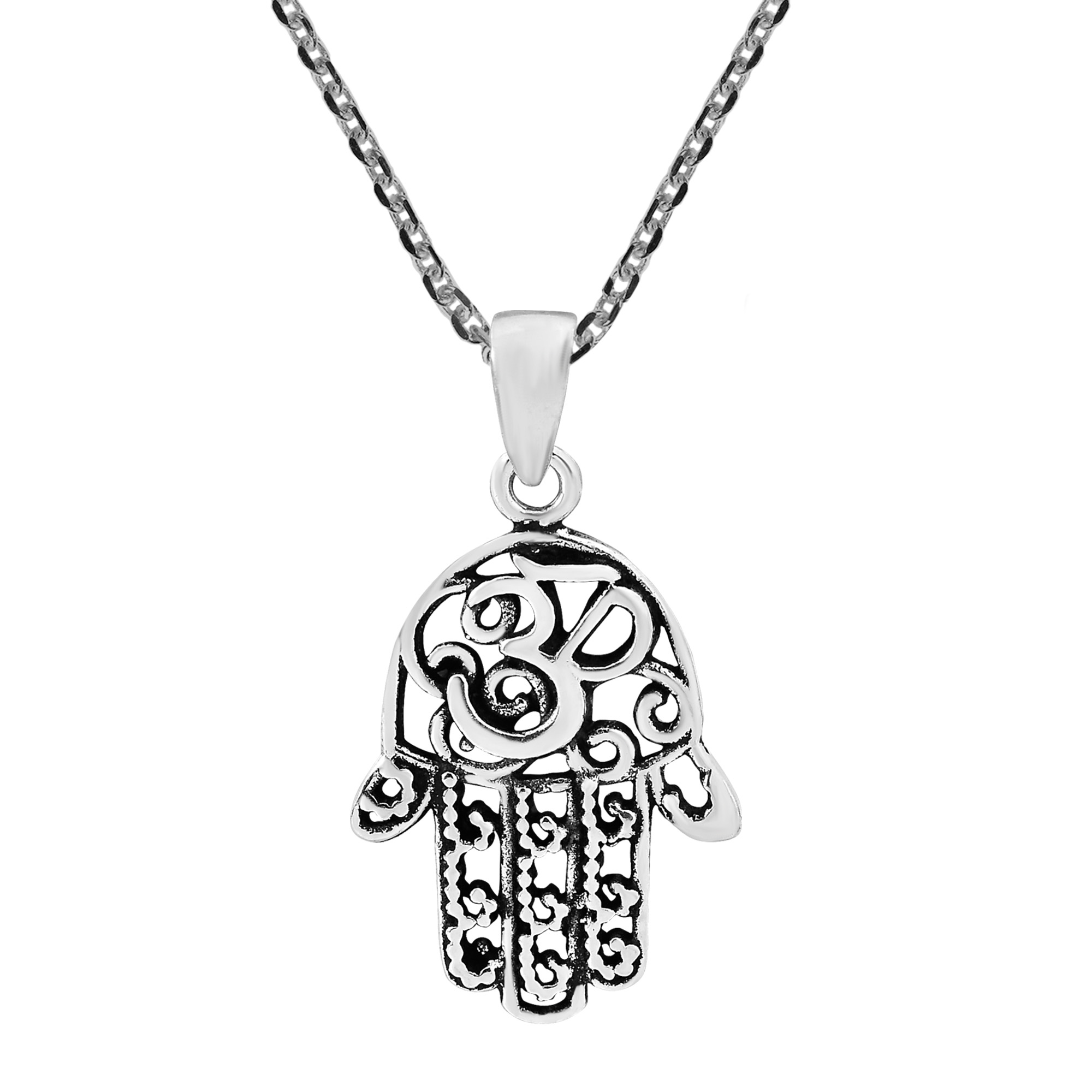 Hand symbol necklace gallery symbol and sign ideas hamsa hand with mystic om aum sterling silver necklace aeravida the historic hamsa hand is known buycottarizona