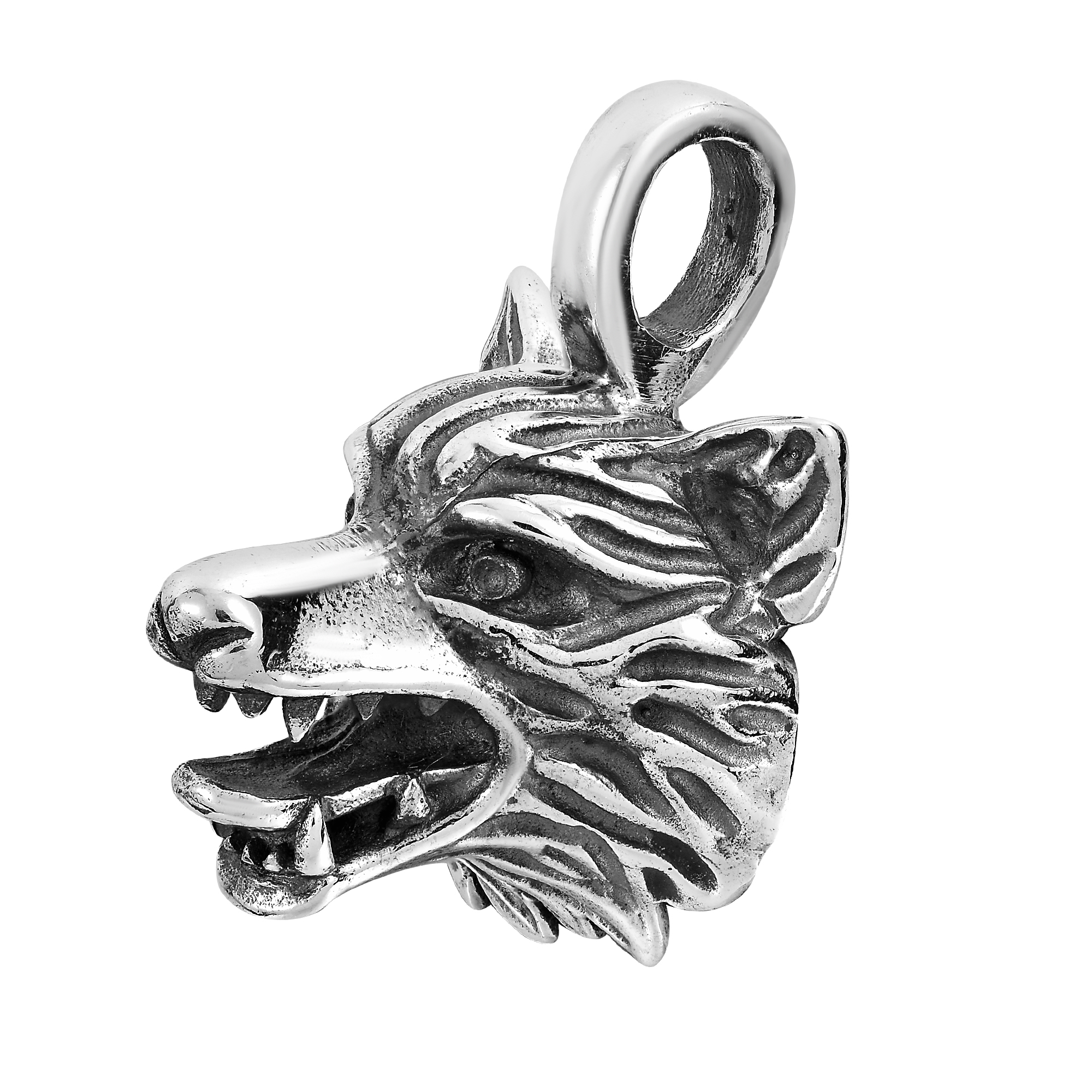 hot jewelry pin fashion supernatural necklace dropshipping huidang celt viking men pendant head sell wolf